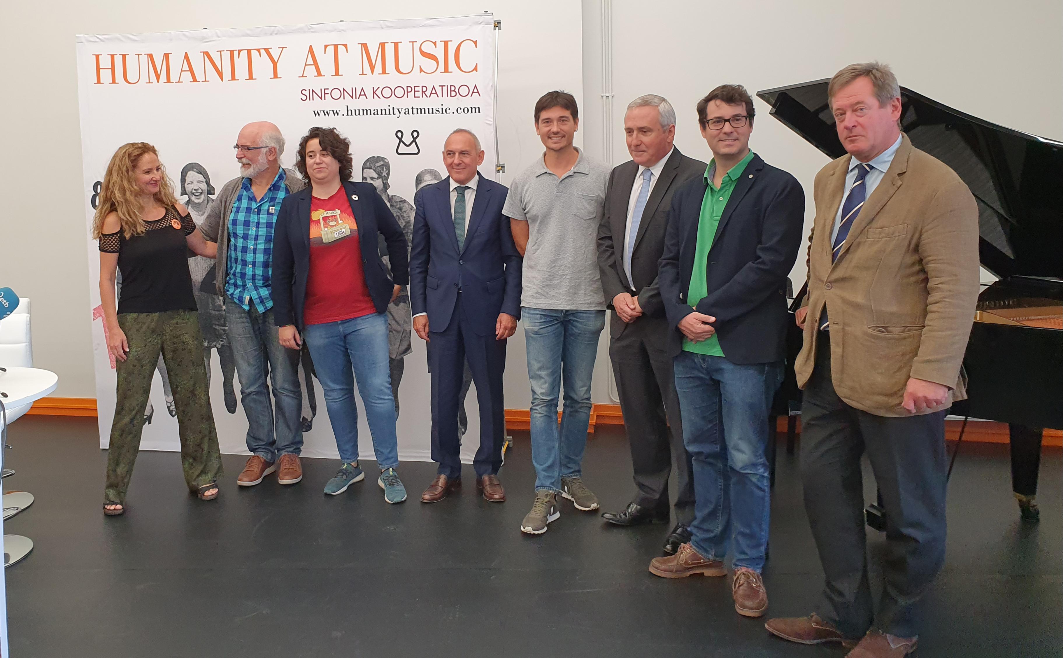 El consejero Bingen Zupiria ha participado en la presentación de 'Humanity at music', organizado por Mondragón Korporazioa