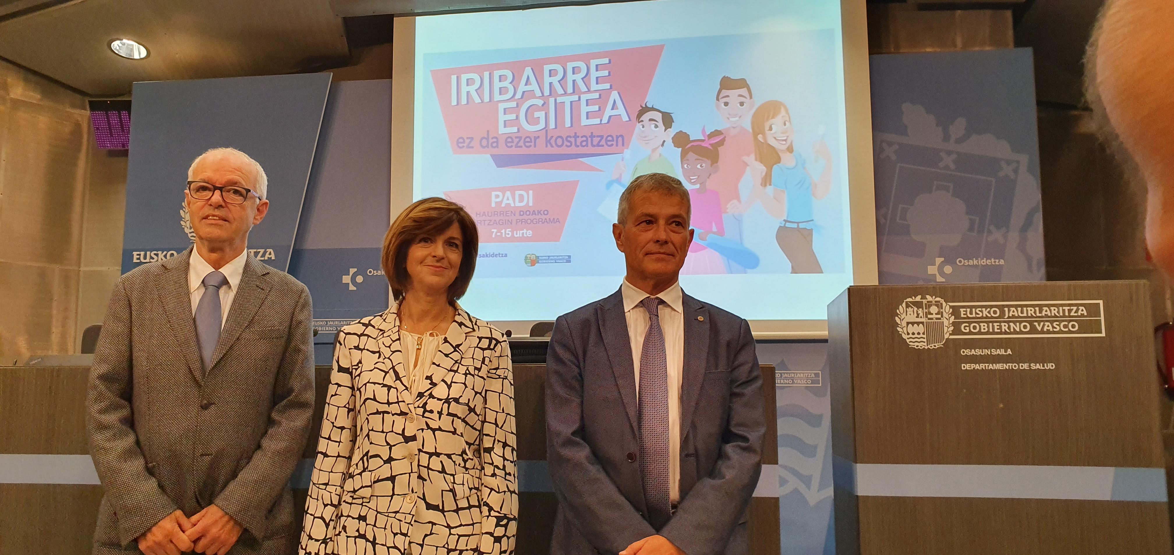 La salud bucodental de la población escolar infantil vasca se consolida en la última década como la mejor del Estado y en cabeza de la Unión Europea
