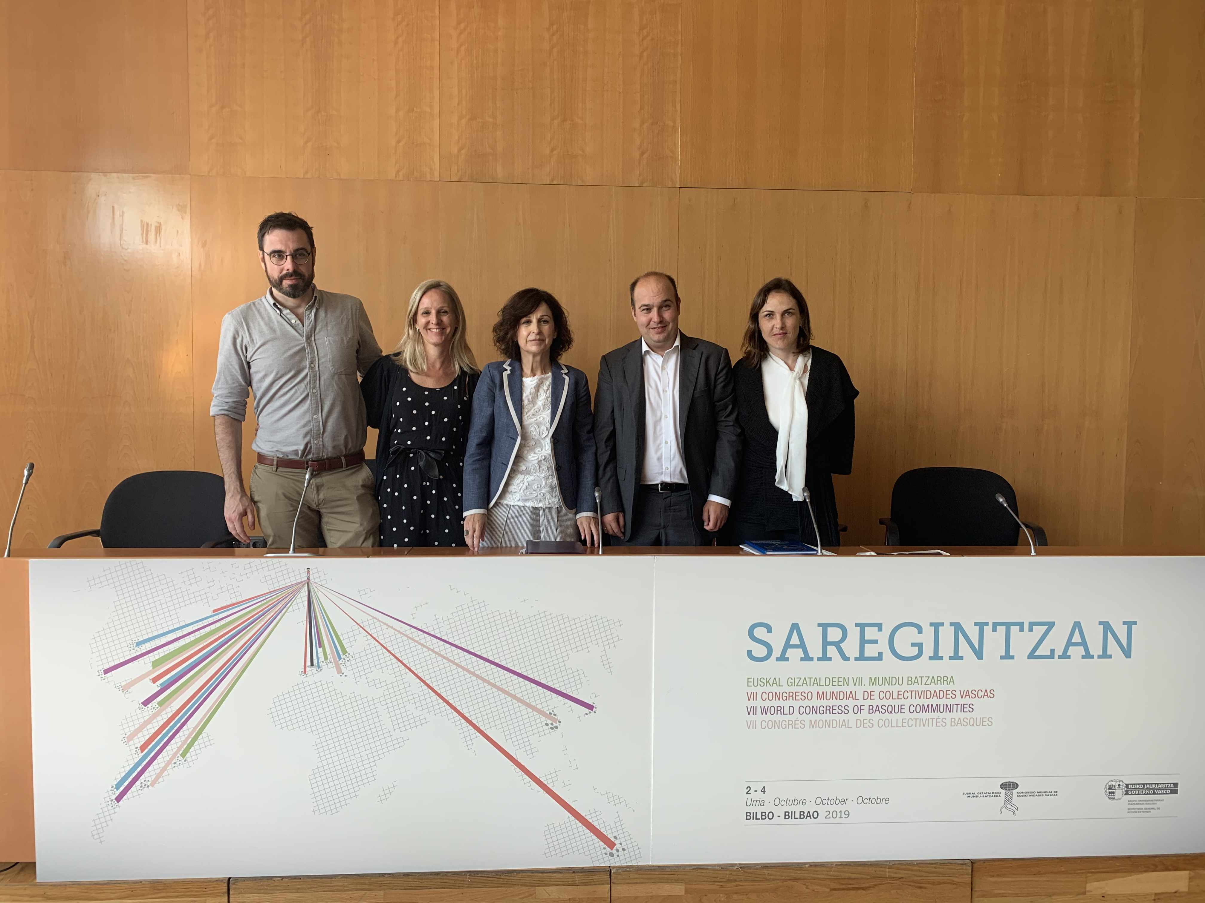 """El VII. Congreso Mundial de Colectividades Vascas en el Exterior se celebrará, entre el 2 y el 4 de octubre, bajo el lema """"SAREGINTZAN"""""""