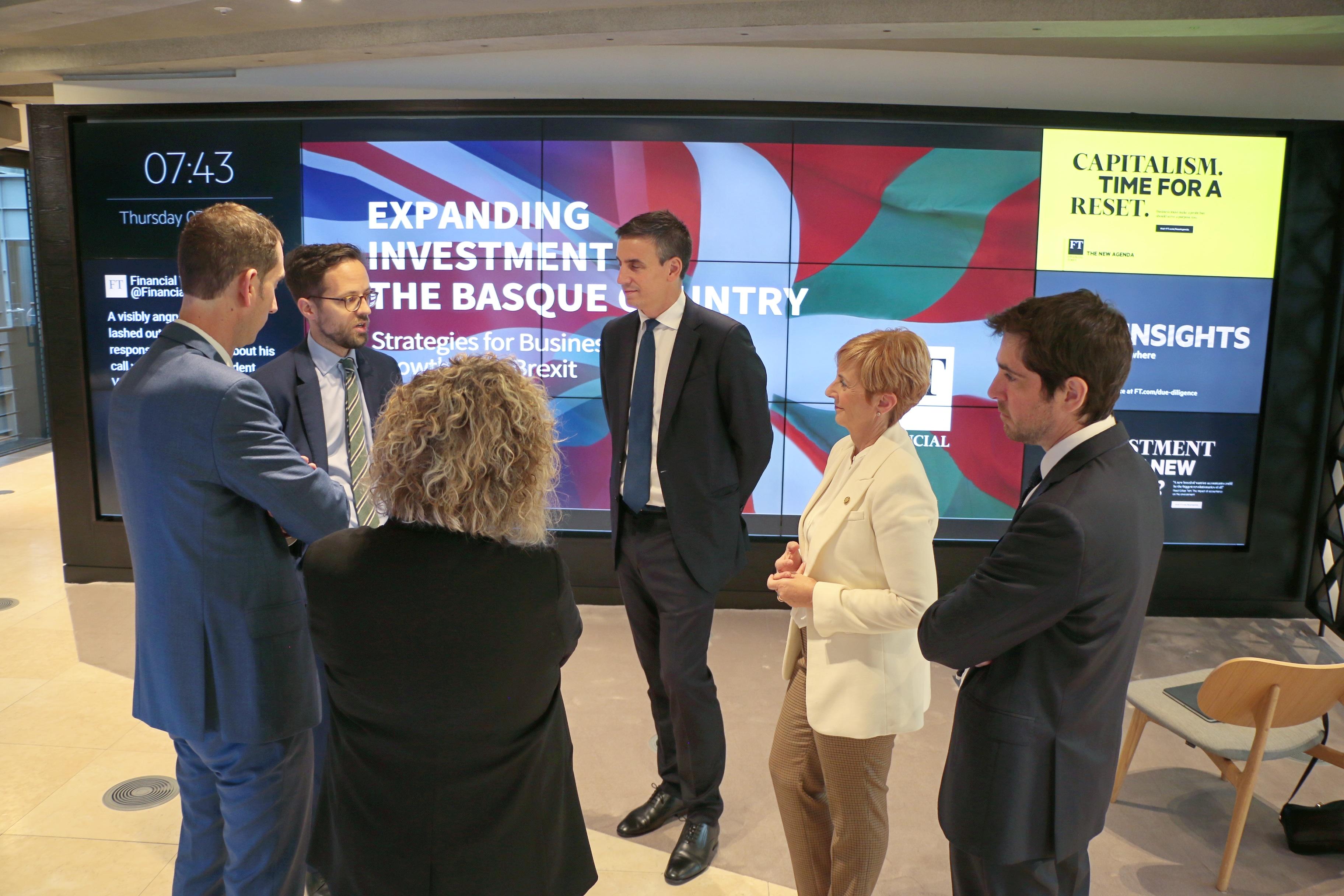 El Gobierno Vasco quiere posicionar a Euskadi en el Reino Unido para atraer inversiones y abrir nuevas colaboraciones de carácter comercial
