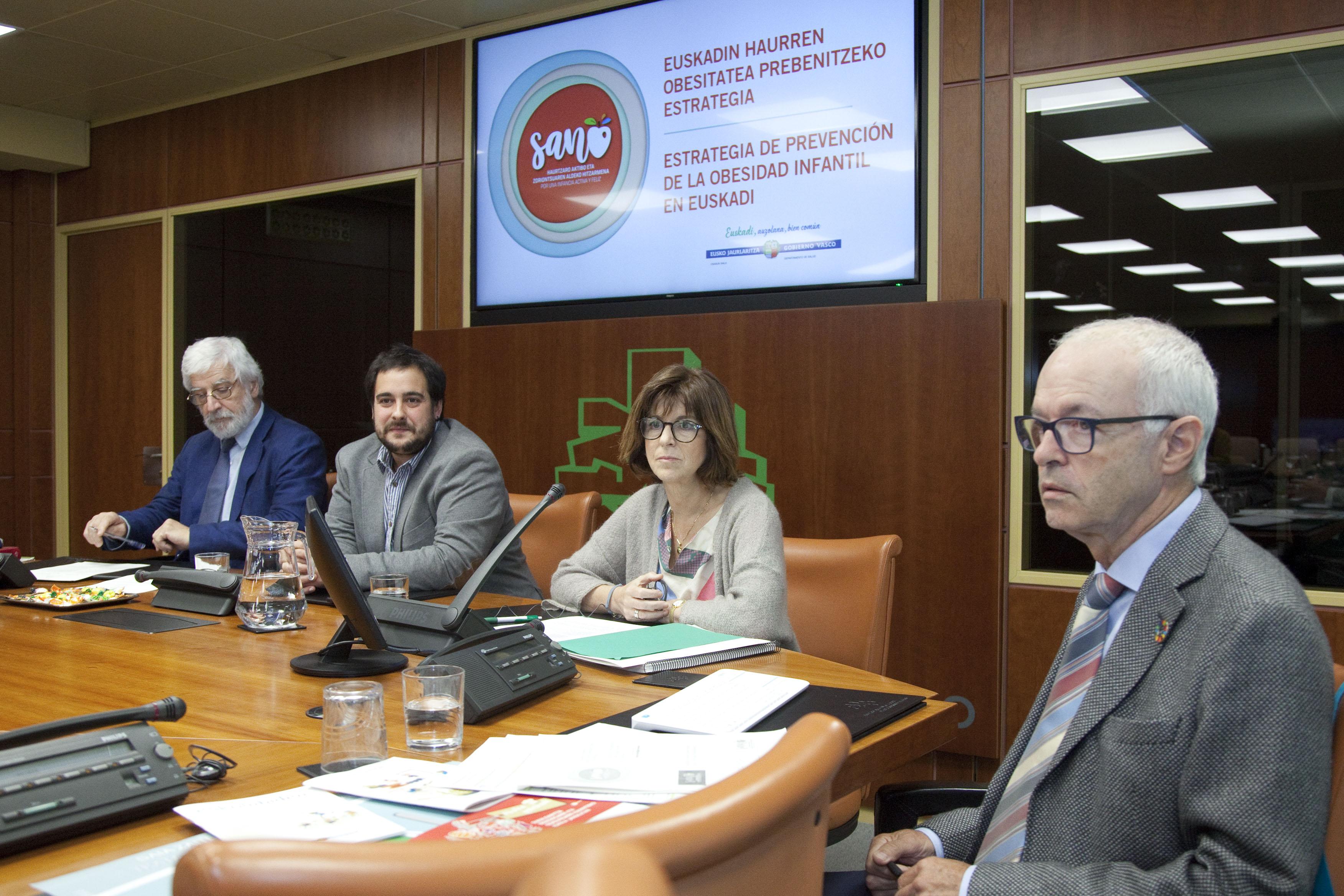 Eusko Jaurlaritzak haur-obesitateari heltzeko ingurune osasungarriak sortzeko duen konpromisoa sendotu du
