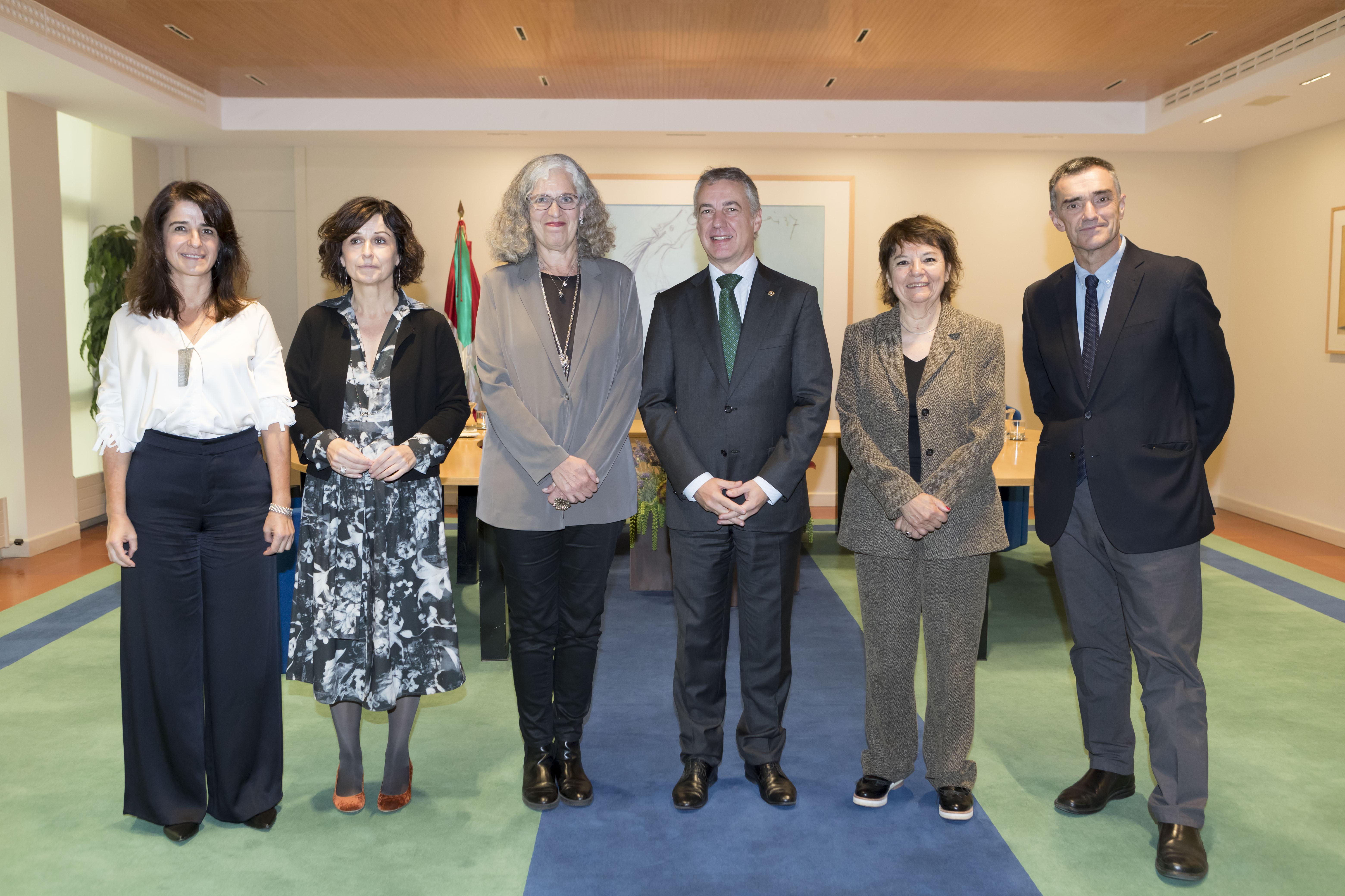 El Lehendakari recibe a responsables del Museo Sitio de Memoria ESMA de Buenos Aires
