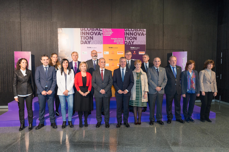Merkatuan iraultza eragingo duten Euskadiko sei proiektu aurkeztu dituzte Zientziaren, Teknologiaren eta Berrikuntzaren XIX. Astea inauguratu duen Innobasqueren Global Innovation Dayn