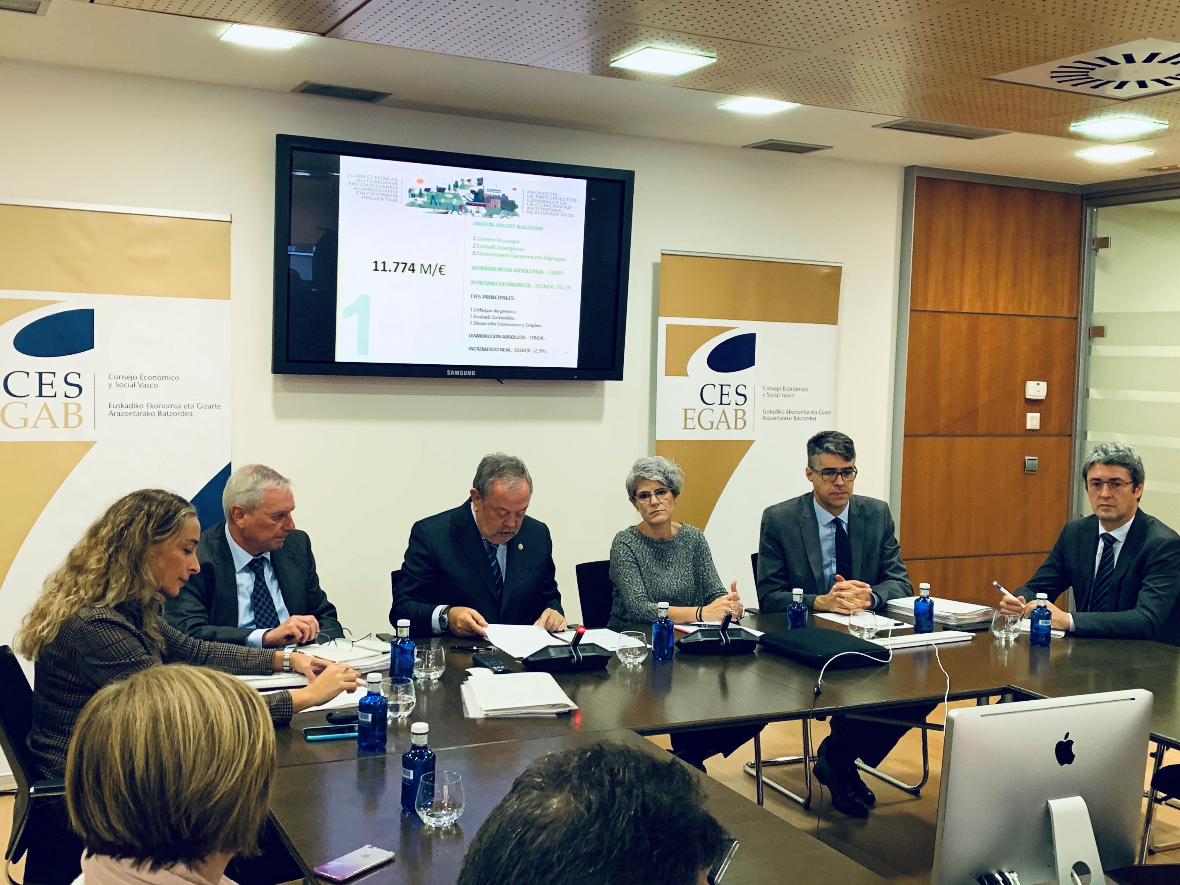 Pedro Azpiazu Sailburuak 2020ko Aurrekontu Proiektua aurkeztuko du EGABko Osokoaren aurrean
