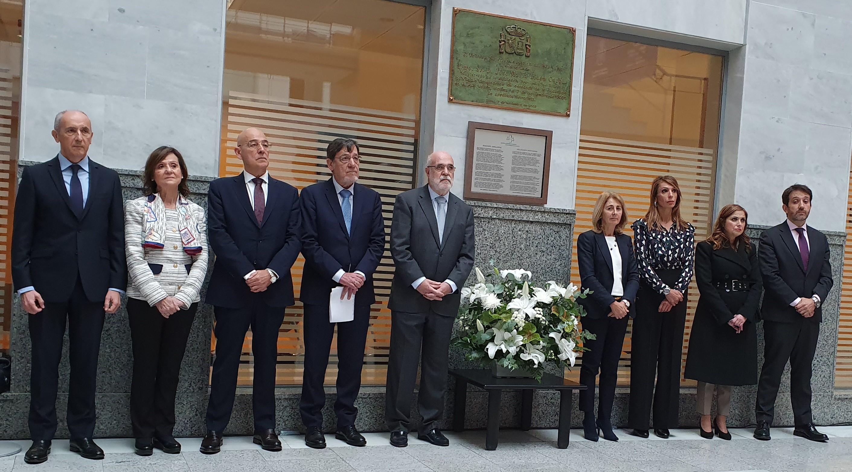 El Gobierno Vasco asiste al acto en recuerdo de José María Lidón cuando se cumplen 18 años del asesinato del magistrado