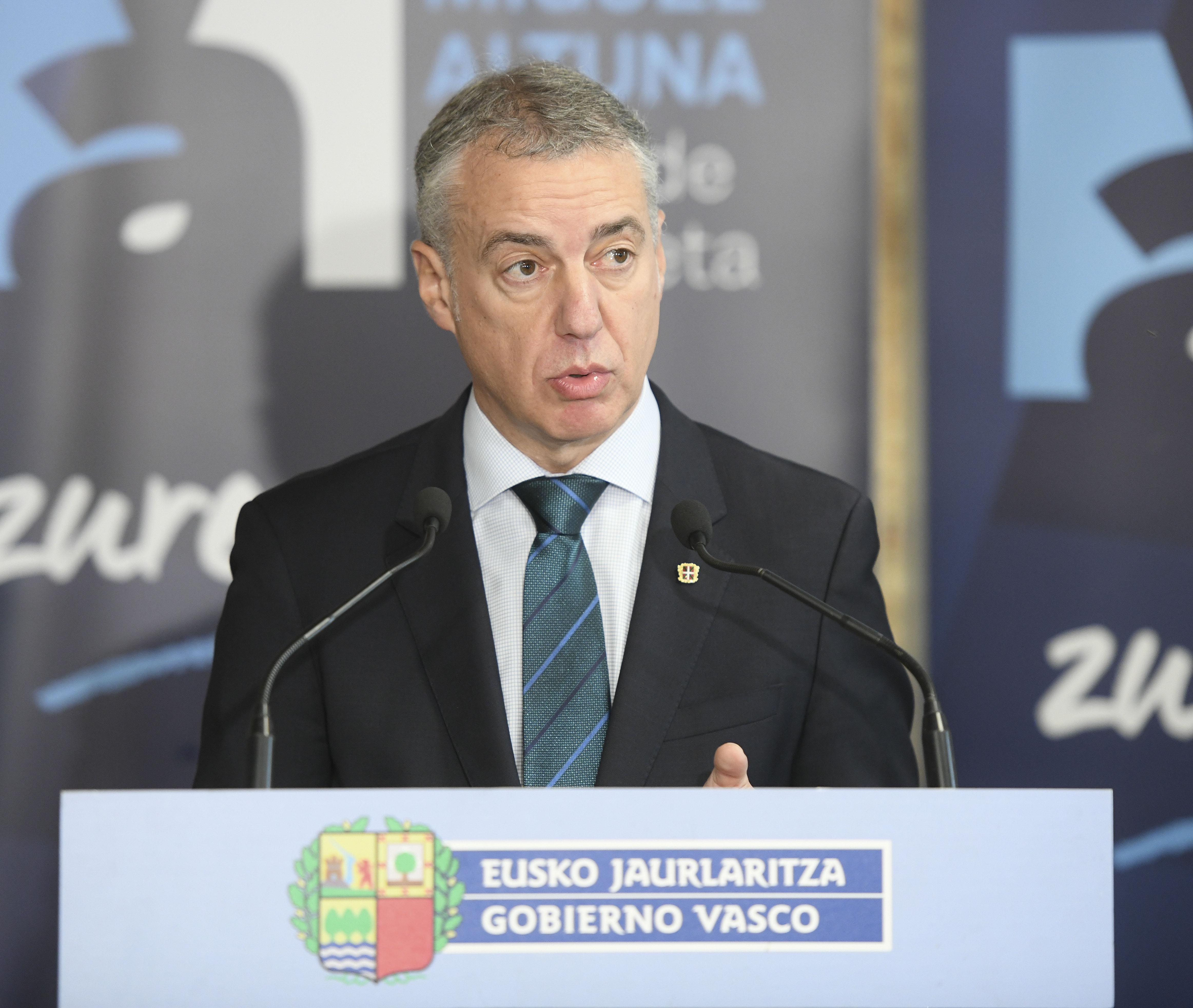 """Iñigo Urkullu: """"Los resultados vuelven a avalar una cultura política diferente que hay que preservar"""""""