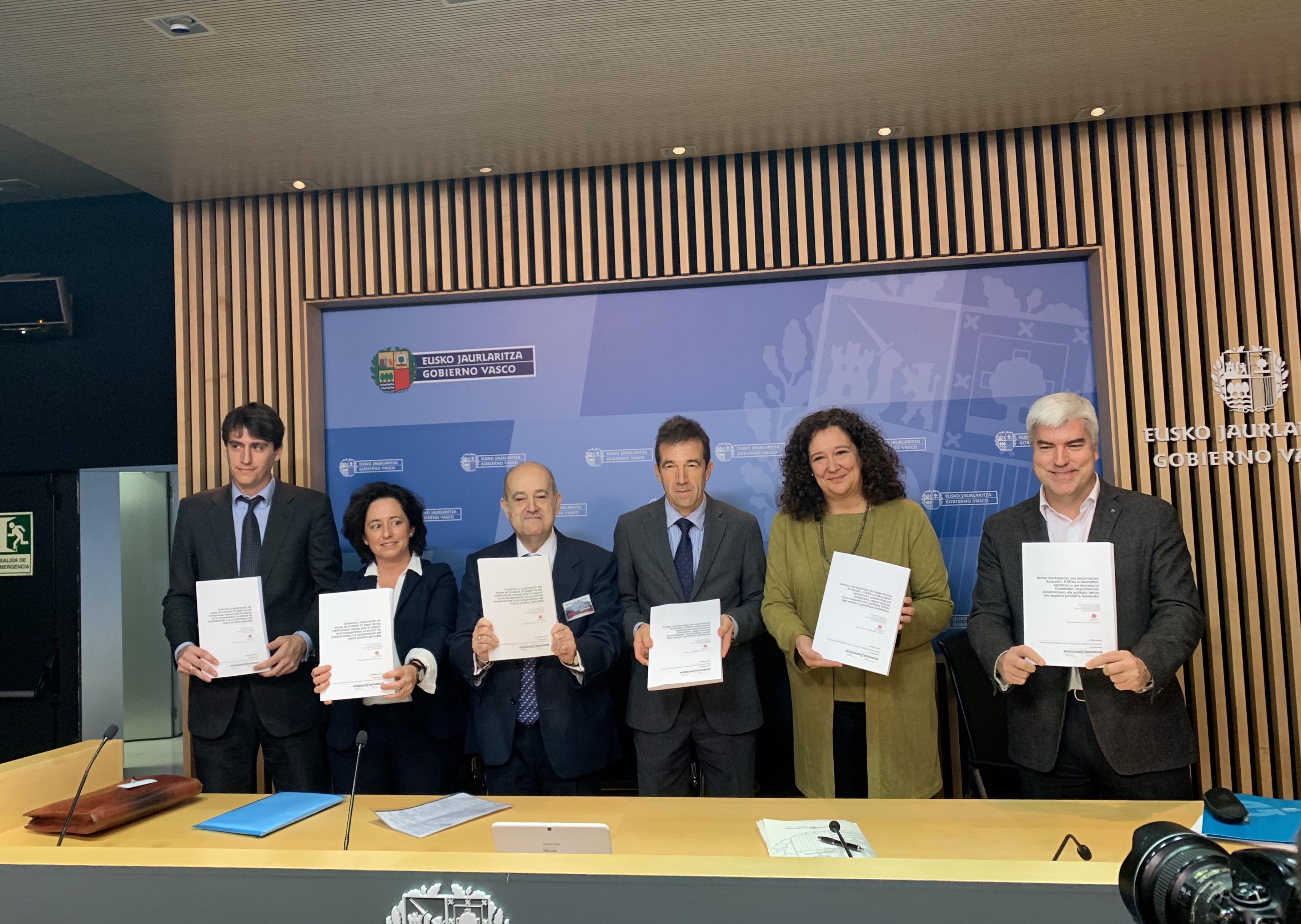 El Instituto de Gobernanza Democrática- Globernance y el Gobierno presentan un informe sobre el comercio y exportación de armas en Euskadi y el papel de las instituciones vascas para la mejora de la transparencia y el control de las exportaciones