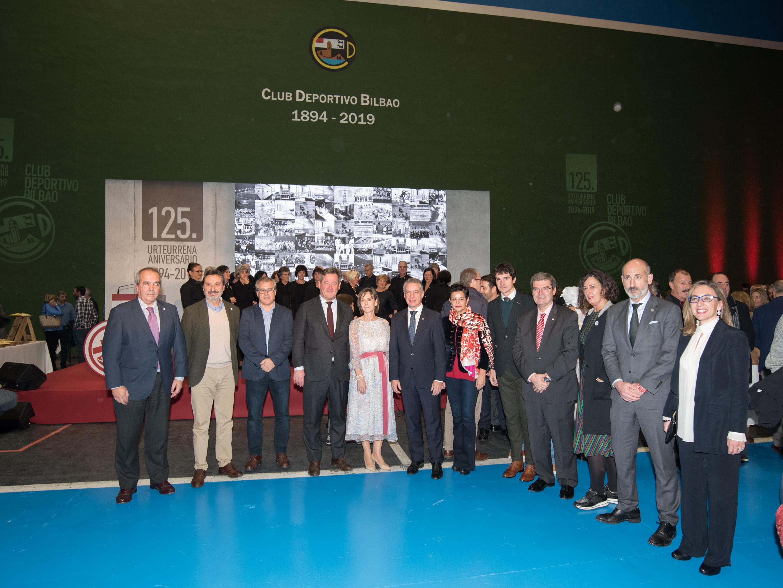 Club Deportivo Bilbao elkartearen 125. urteurrenean izan da Lehendakaria