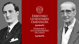 Eusko Jaurlaritzak José Antonio Aguirre eta Jesús Mª Leizaola erbesteko lehendakariak omenduko ditu