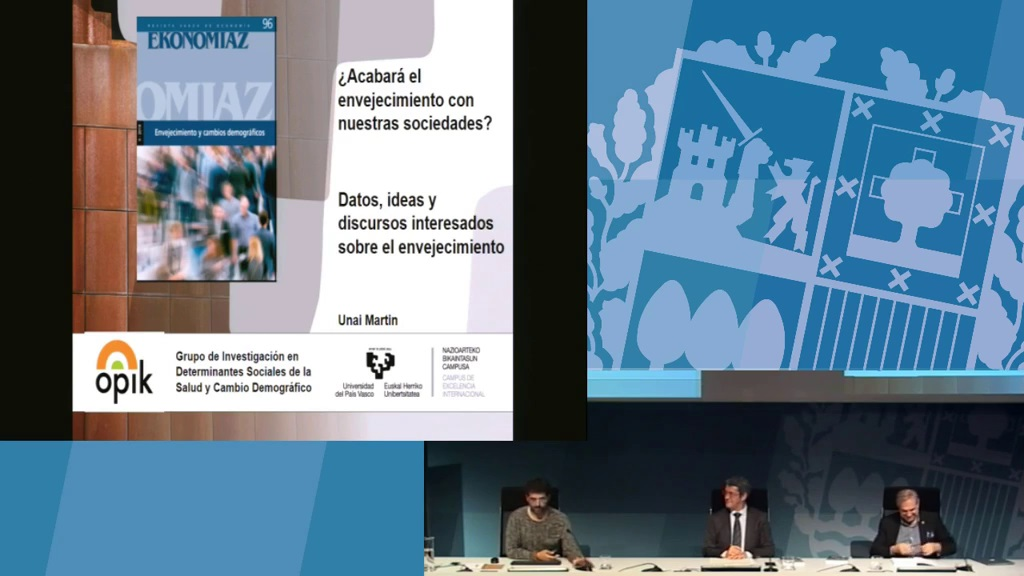 """Presentación del monográfico nº 96 de la revista Ekonomiaz: """"Envejecimiento y cambios demográficos"""""""