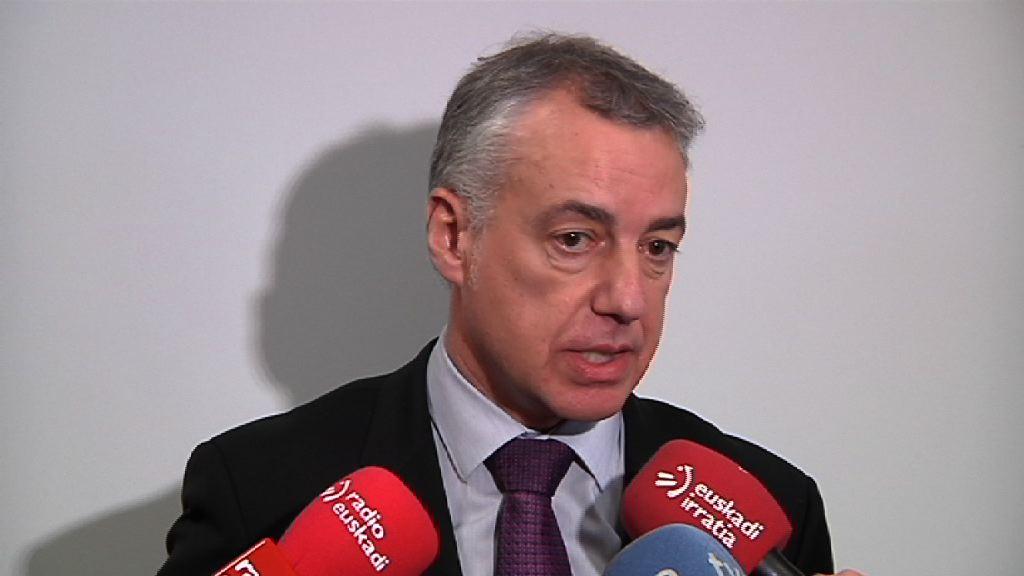 El Lehendakari reitera que la sentencia sobre Oriol Junqueras es la consecuencia de la judicialización de un problema político