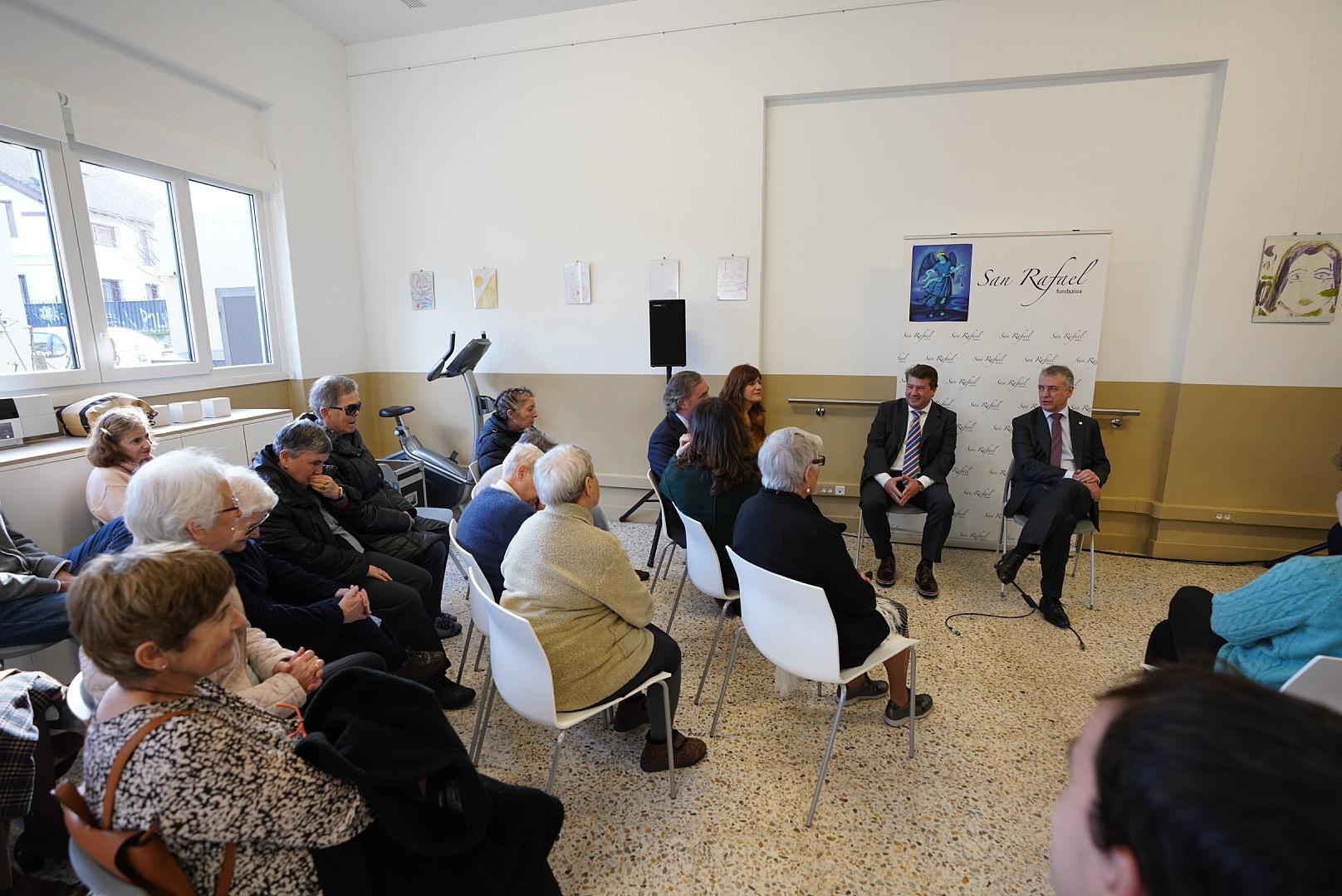El Lehendakari agradece el servicio de la Fundación San Rafael a la sociedad