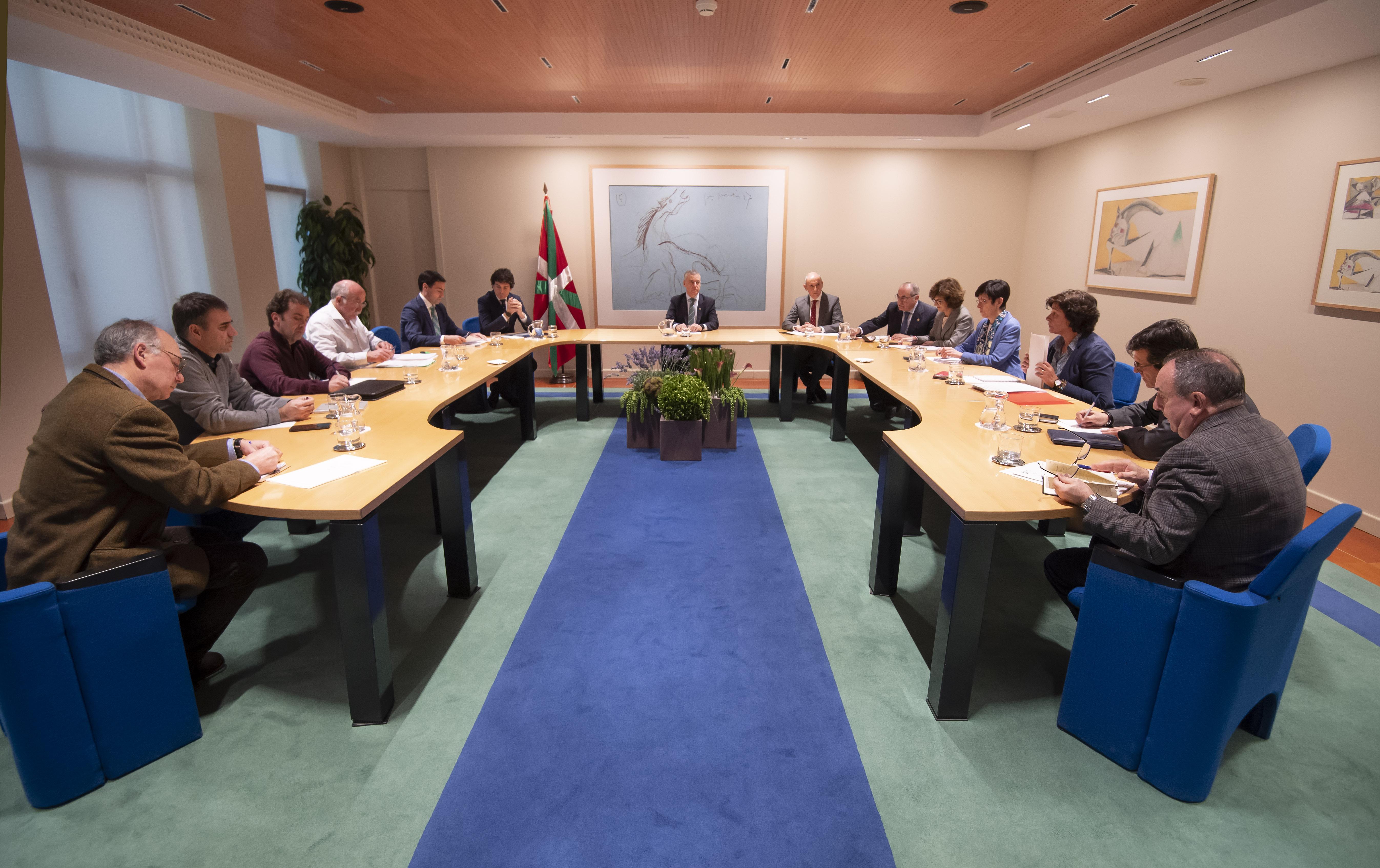 El Lehendakaripresidela reunión de coordinación interinstitucional para el seguimiento de las actuaciones en Zaldibar