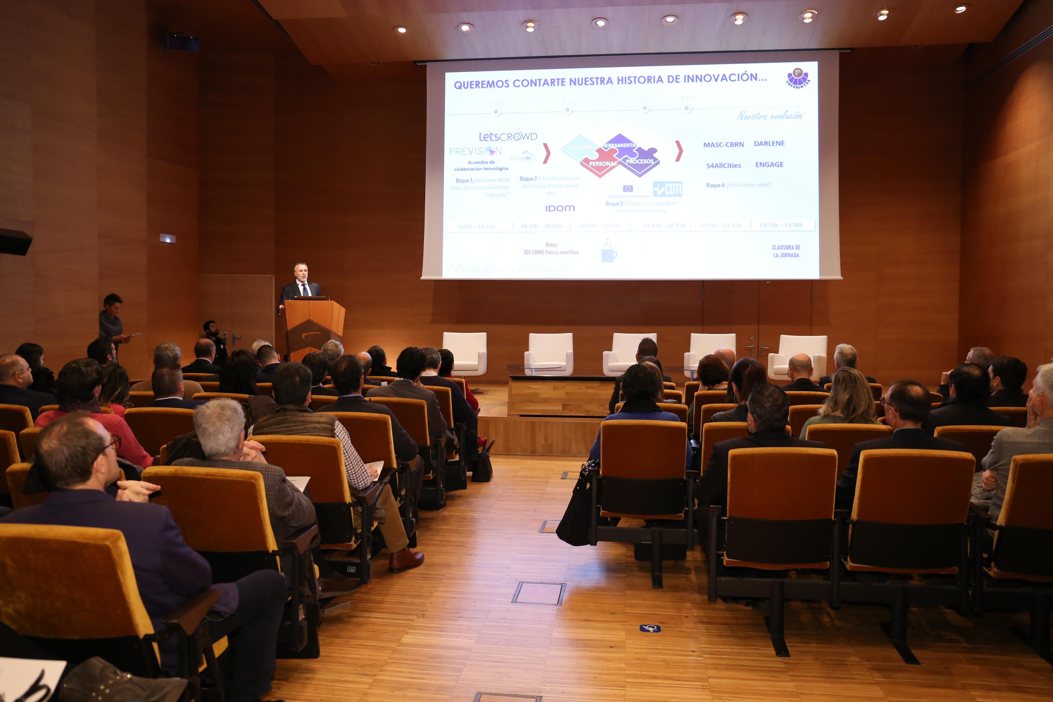 La Consejera de Seguridad abra la II Jornada de Investigación e Innovación en la Ertzaintza