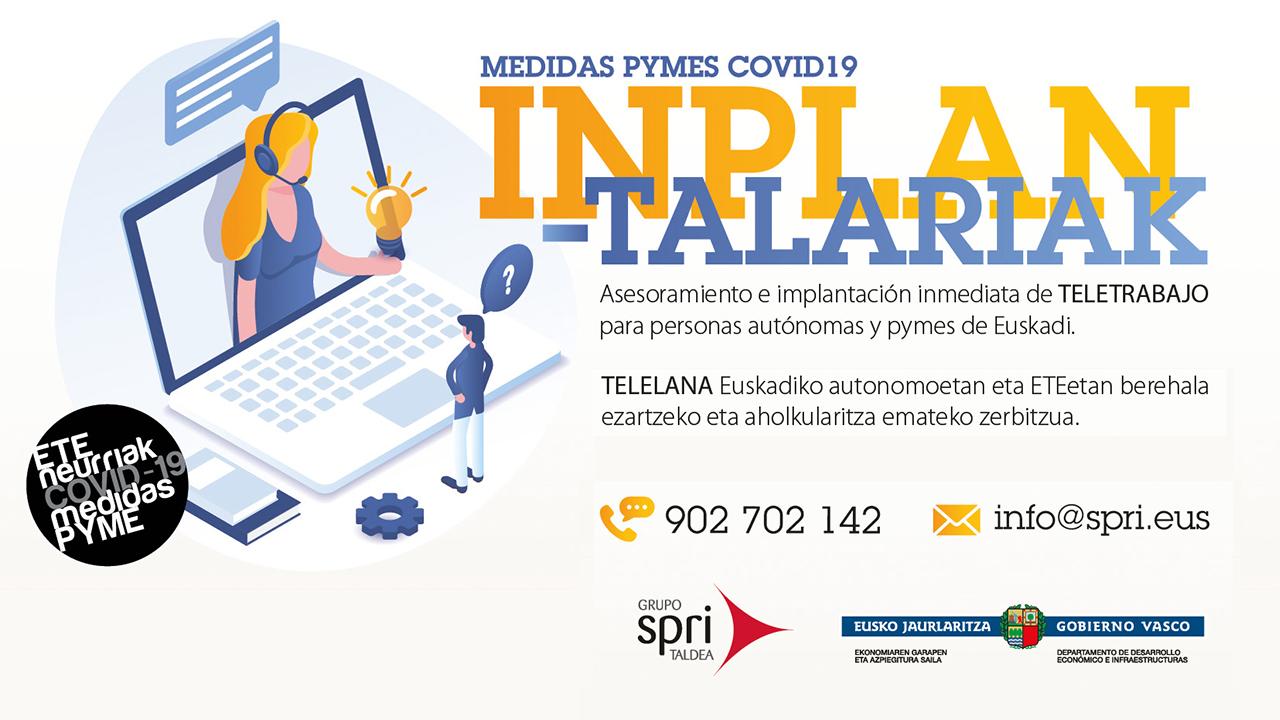El Gobierno Vasco pone en marcha un servicio de asesoramiento e implantación inmediata de teletrabajo en autónomos y pymes