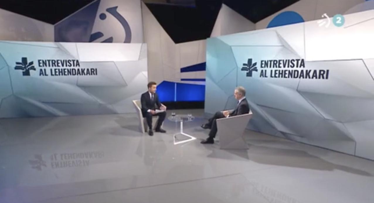 Entrevista al Lehendakari en ETB2 para analizar la situación provocada por la crisis del coronavirus