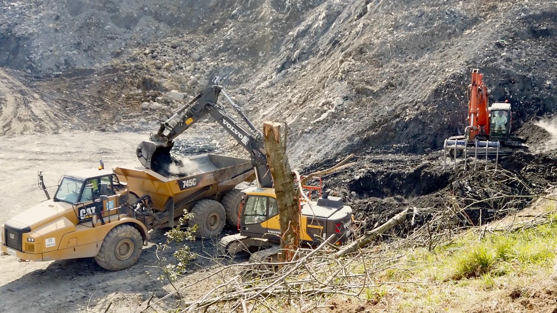 Información sobre el operativo de búsqueda de Alberto y Joaquin en el vertedero de Zaldibar (Verter Recycling 2002)