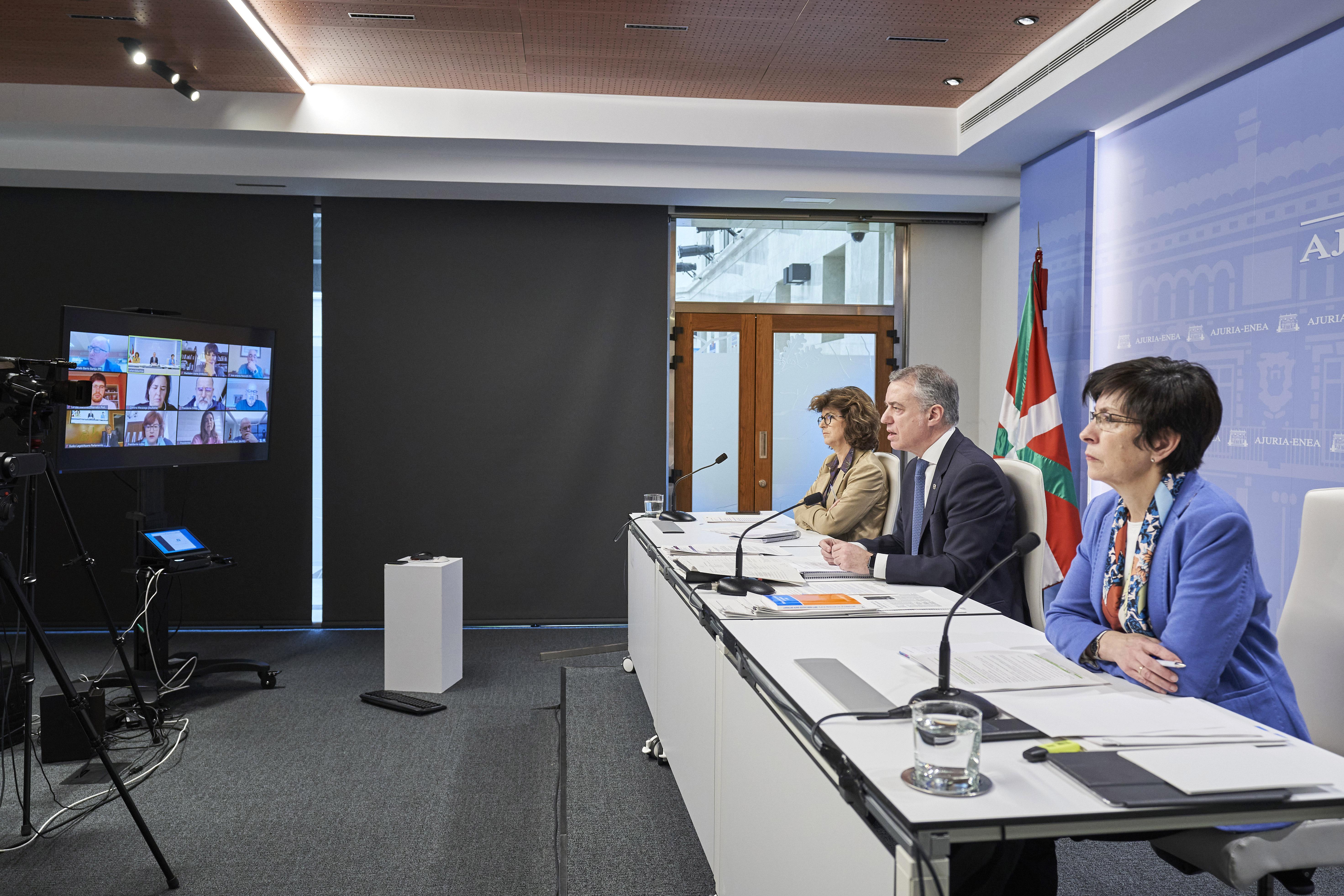 El Lehendakari explica la gestión llevada a cabo por el Gobierno ante la crisis sanitaria provocada por el Covid-19