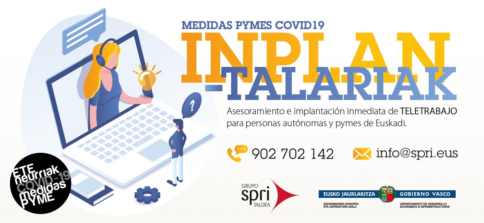 #INPLANTALARIAK - TELETRABAJO para personas autónomas y pymes de Euskadi