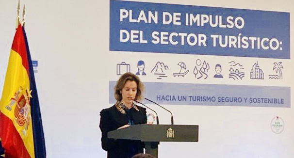 """Sonia Pérez Ezquerra sailburua: """"Nahi dugun turismo-ereduan elkarrekin lan egiteko aukera dugu, Espainia marka sendotuz, erkidegoaren eta sektorearen onuran""""  [5:07]"""