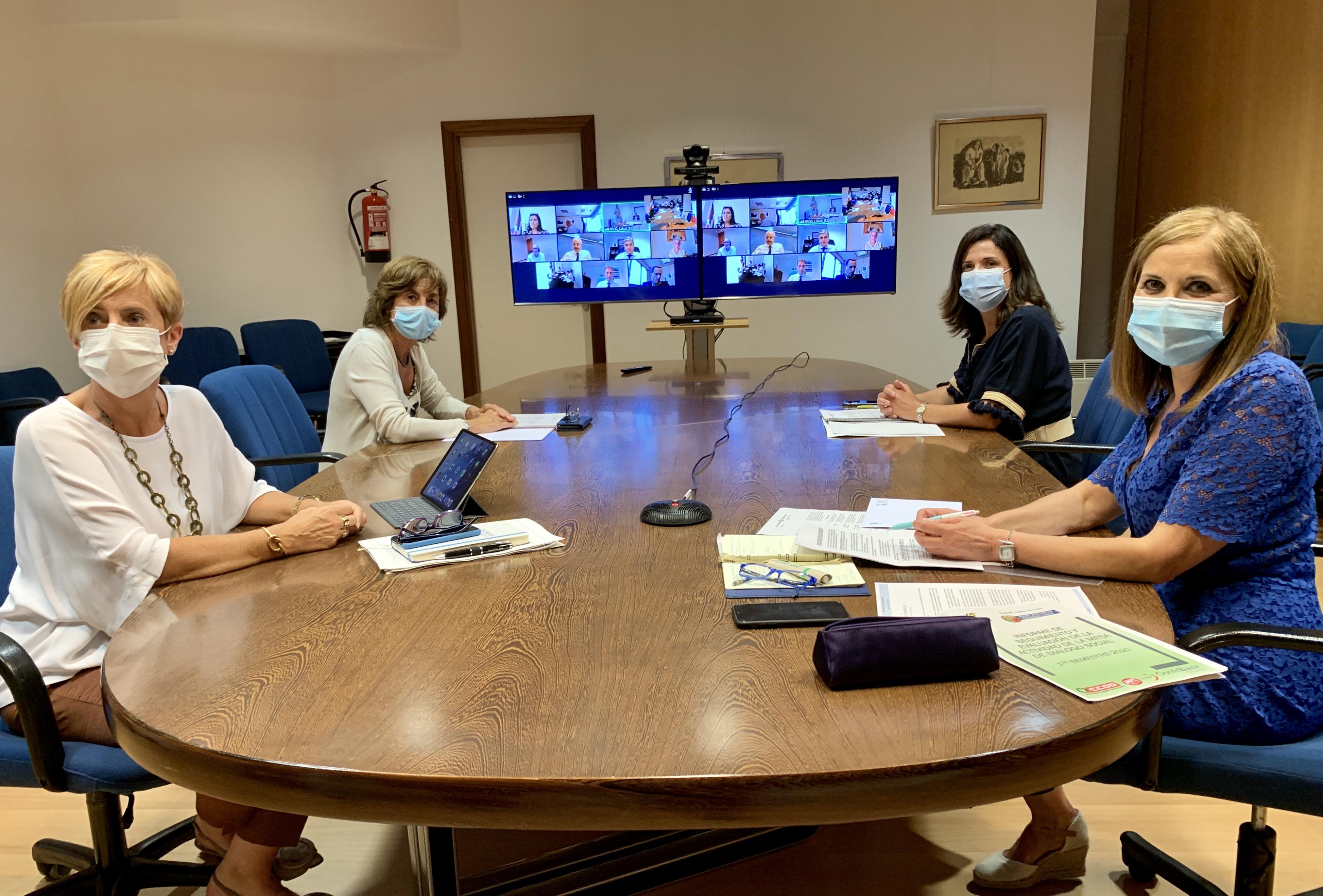 Gobierno Vasco, Confebask, CCOO y UGT aprueban el Informe de Seguimiento y Evaluación de la actividad de la Mesa de Diálogo Social en el primer semestre 2020 [0:00]