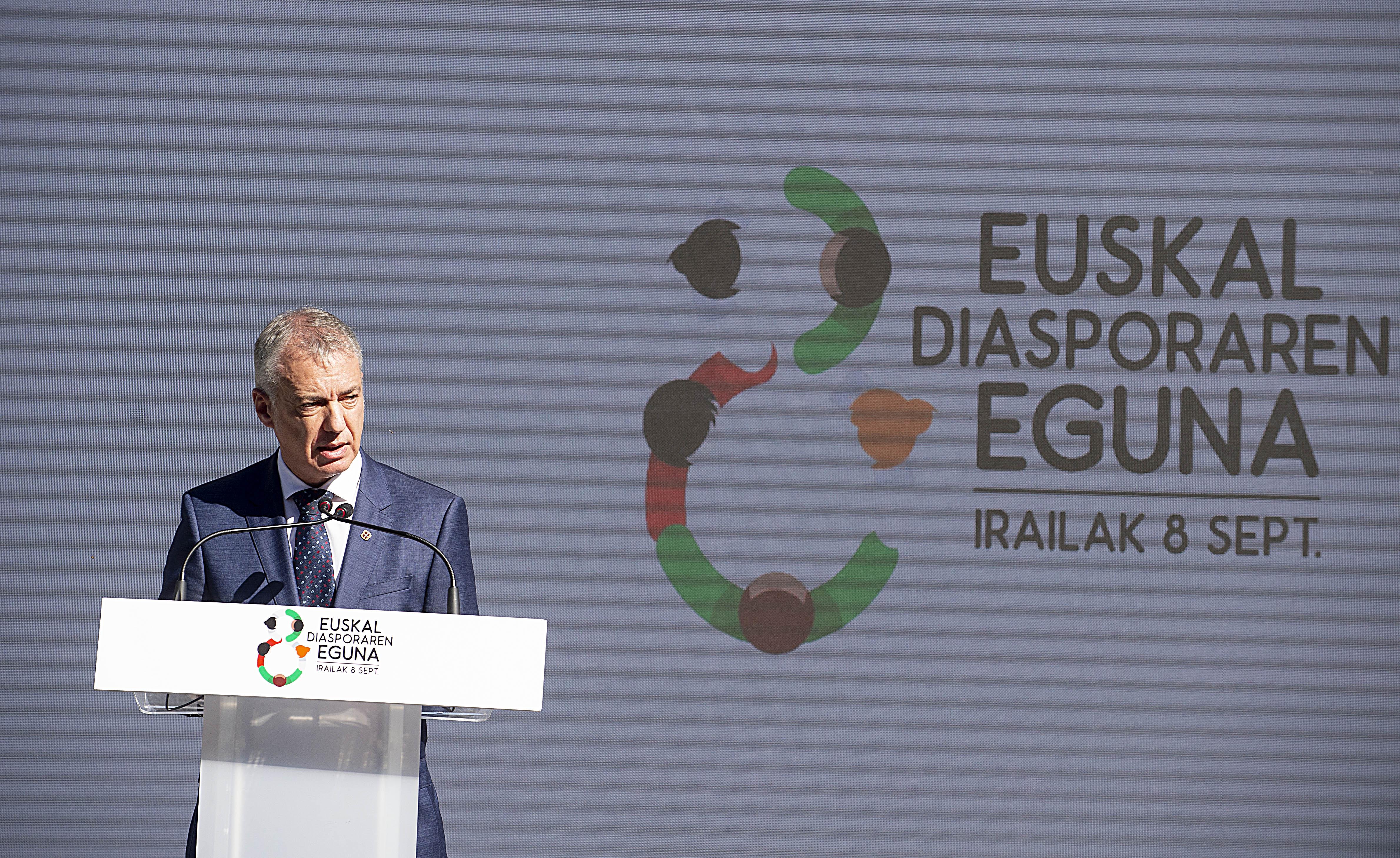 El Lehendakari Urkullu reafirma en el Día de la Diáspora su compromiso para trabajar por las y los vascos, de Euskadi y del mundo [0:00]