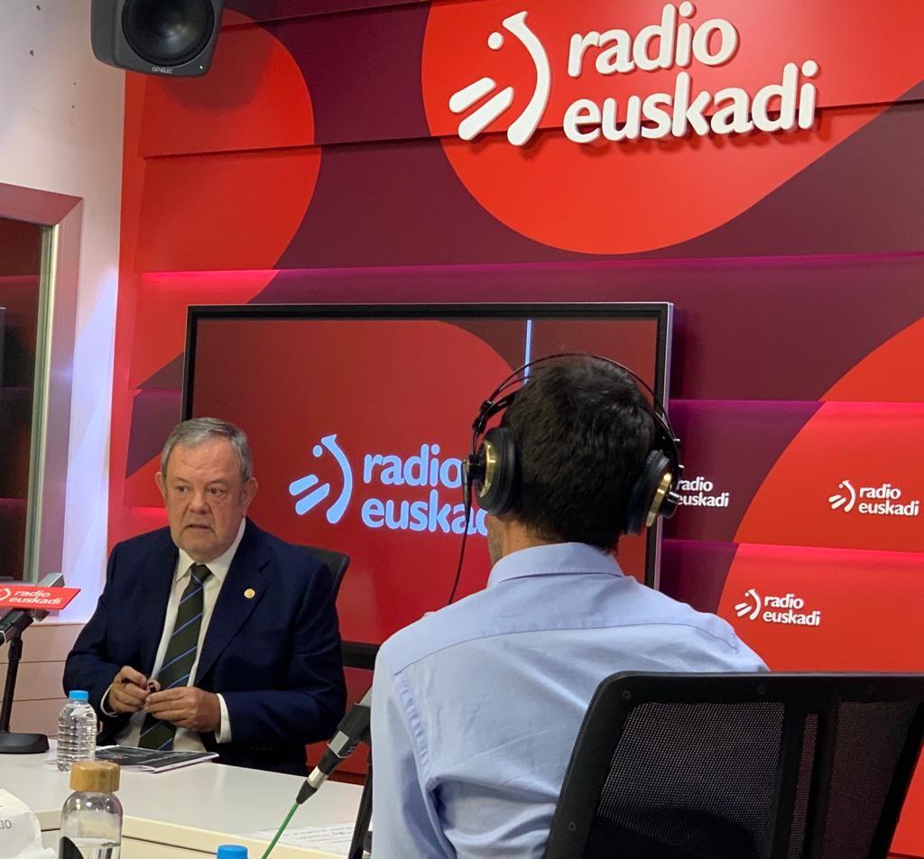 """Pedro Azpiazu: """"Previsiblemente la reunión de la Comisión Mixta del Concierto Económico se celebrará el próximo 30 de septiembre"""" [0:00]"""