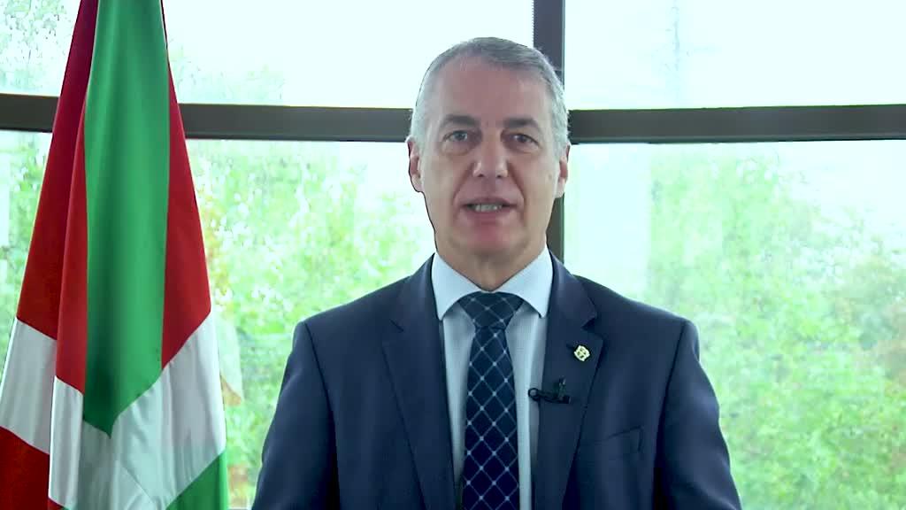 """El Lehendakari reitera ante la ONU el compromiso del Pueblo Vasco con el planeta, """"nuestro bien común"""" [0:00]"""