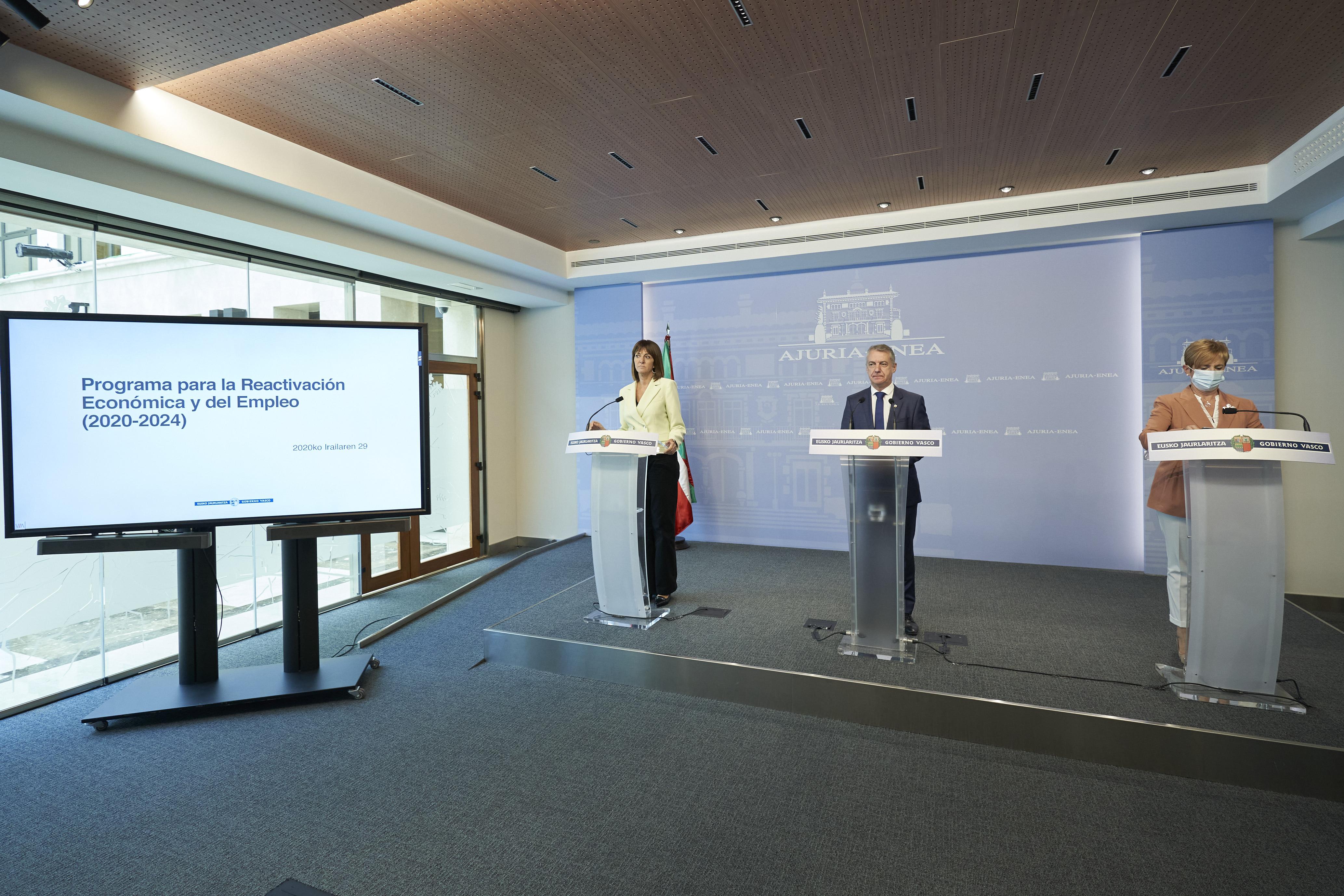 El Gobierno Vasco detalla el Programa Berpiztu para reactivar la economía y recuperar todo el empleo perdido [0:00]