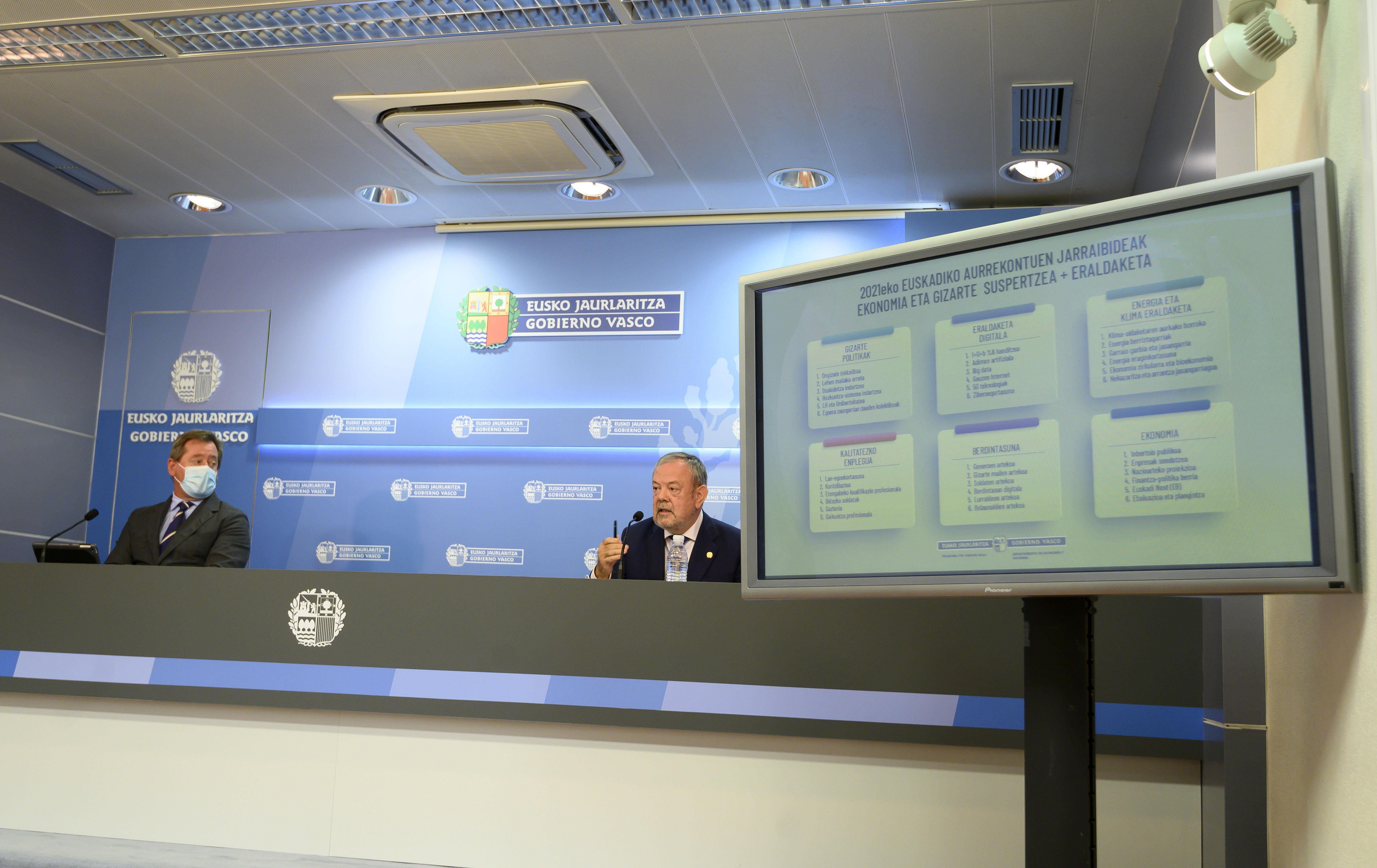 El Gobierno Vasco descarta la austeridad para diseñar los presupuestos de la reconstrucción y transformación económica y social de Euskadi [0:00]