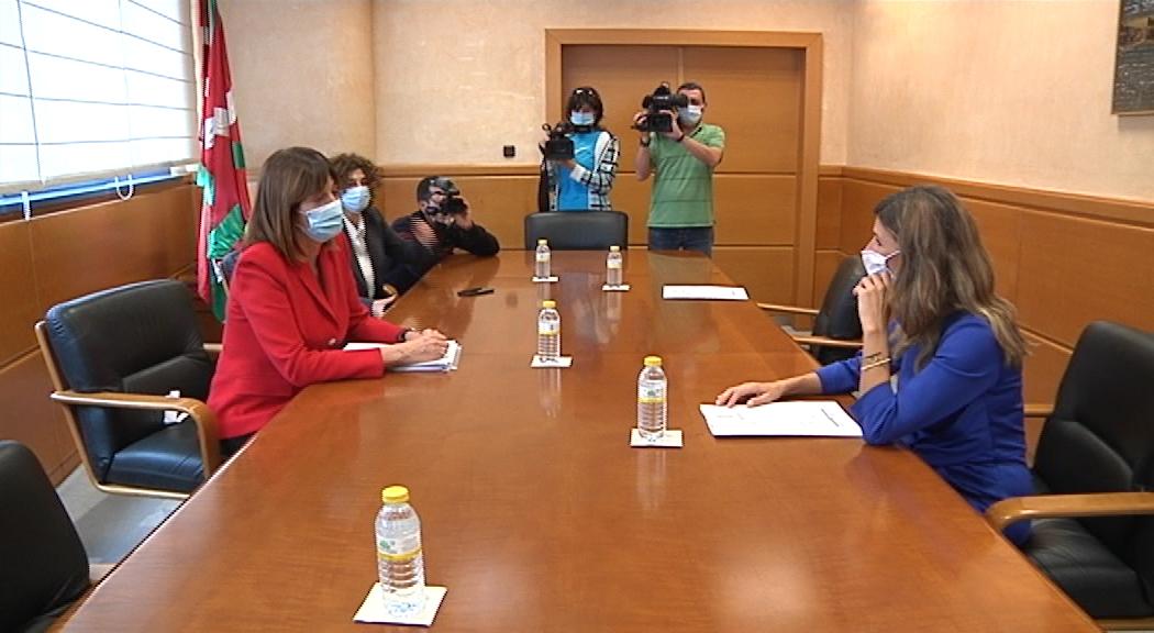 La Vicelehendakari Idoia Mendia se reúne con la ministra de Trabajo, Yolanda Díaz [0:00]
