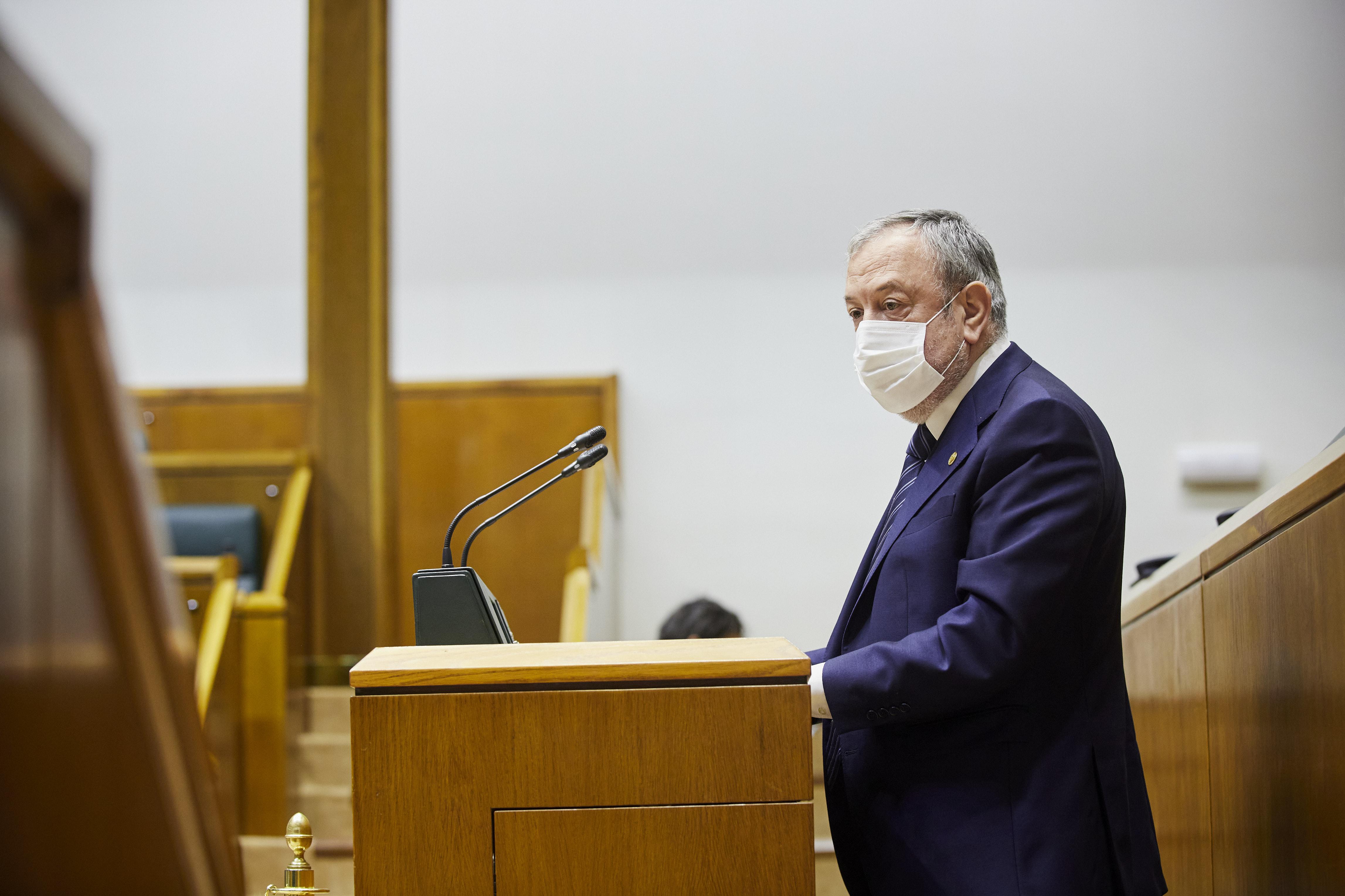 Intervención del Consejero Pedro Azpiazu en el pleno sobre la modificación de la Ley de aprobación de los Presupuestos 2020 [0:00]