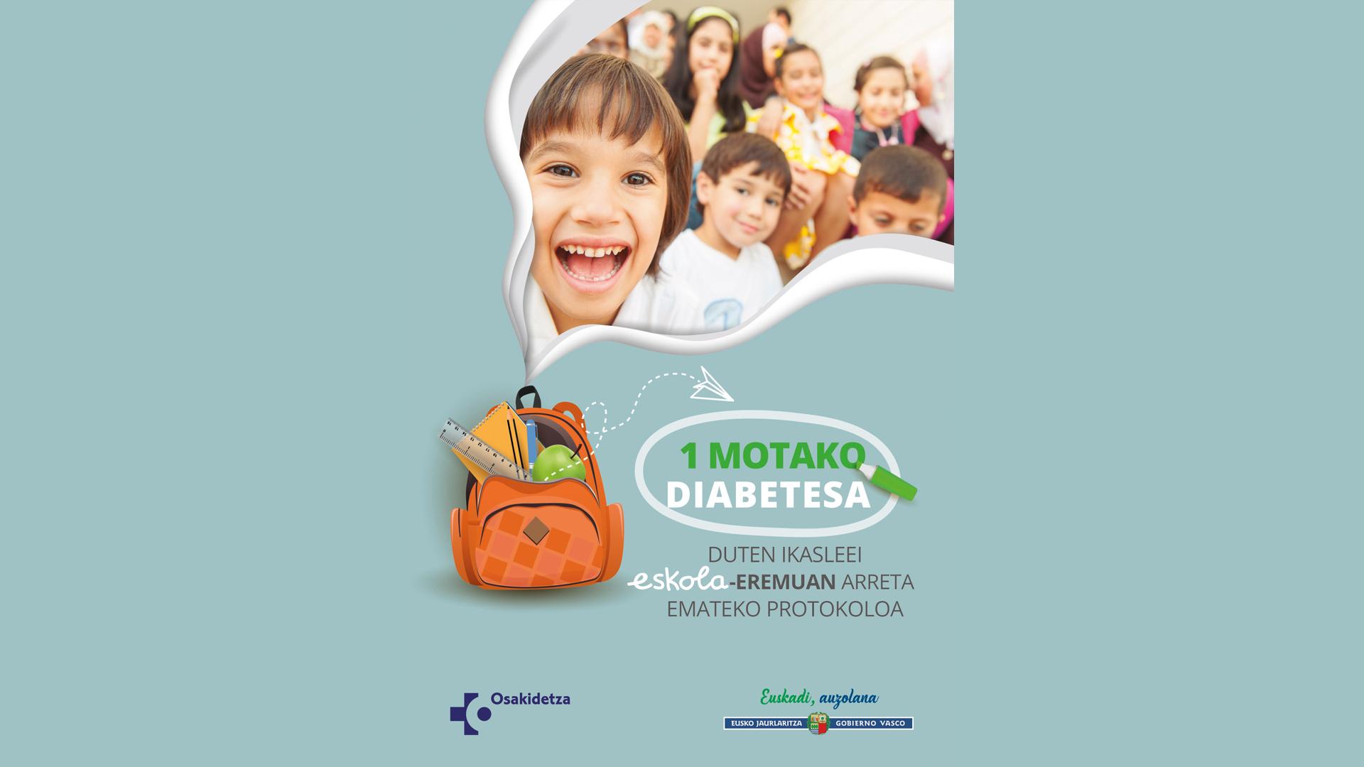 Protokolo baten bidez hobetu egiten dira I motako diabetesa duen adingabe batek eskola-eremuan behar dituen kontrola eta zaintzak [0:00]