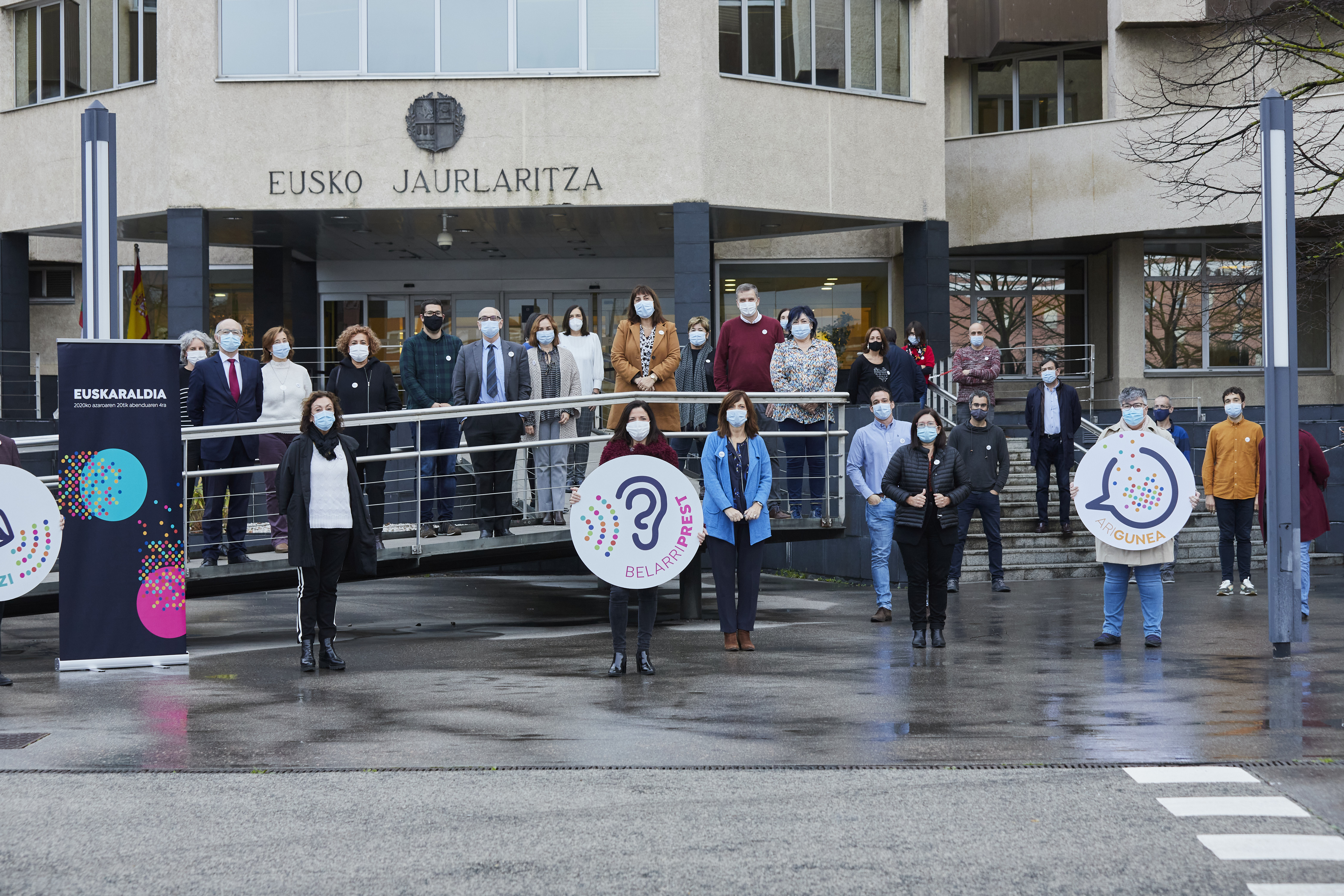 El Departamento de Igualdad, Justicia y Políticas Sociales del Gobierno Vasco se suma al Euskaraldia con 15 Arigunes y más de 100 participantes [0:00]
