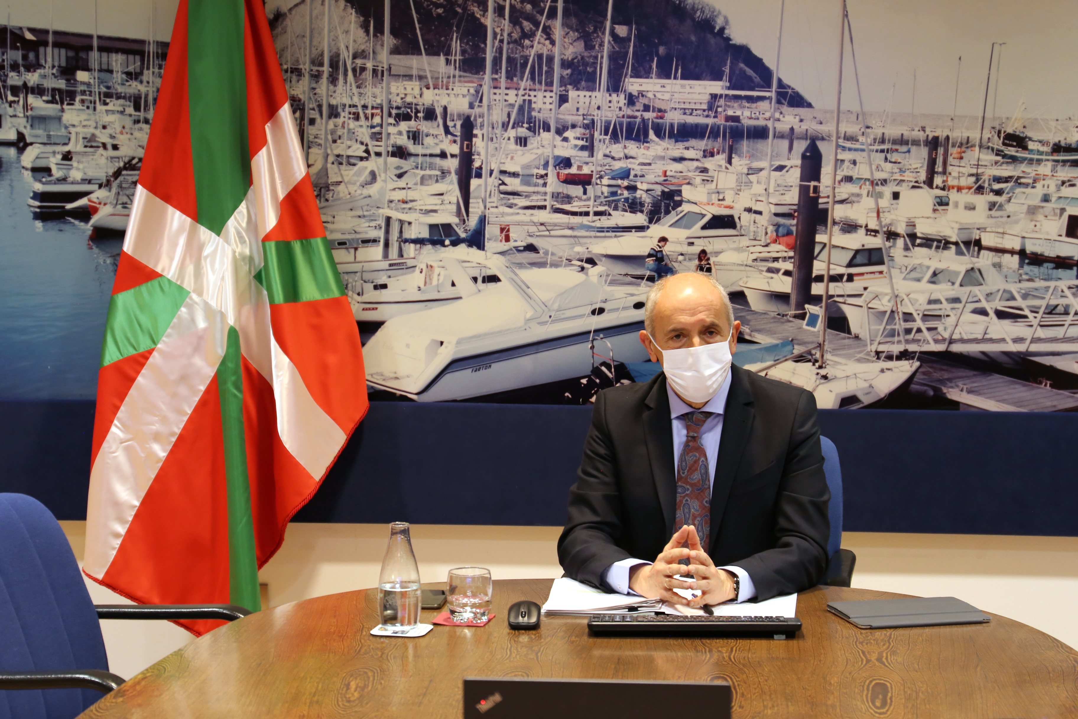 Josu Erkorekak Segurtasun Nazionaleko Gaietarako Batzar Sektorialean parte hartu du bideokonferentzia bidez  [0:00]