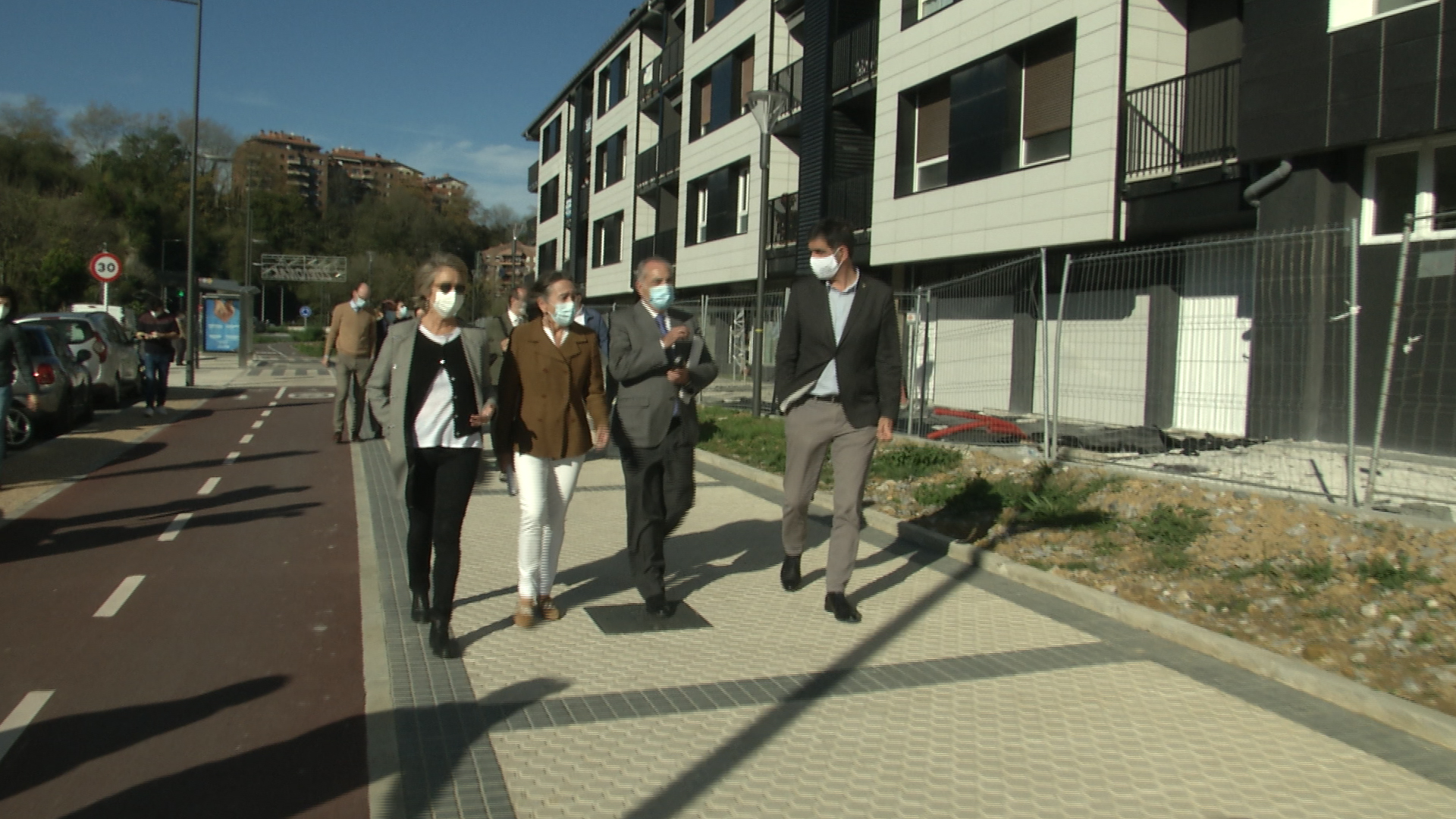 Finalizada la rehabilitación energética de las viviendas del  barrio de Txomin de San Sebastián [0:00]