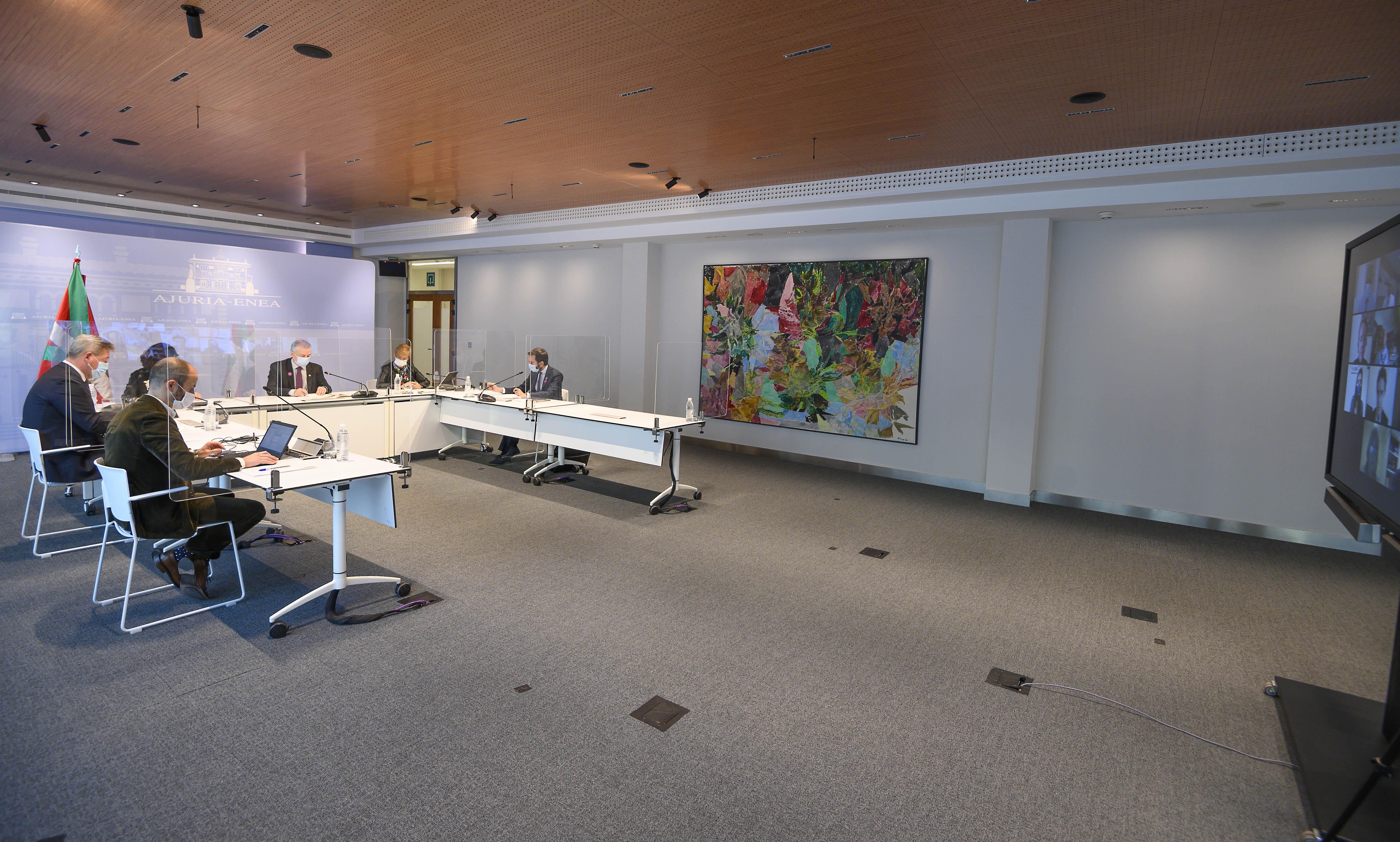 El Lehendakari preside la reunión del Consejo Asesor de Acción Exterior [0:00]
