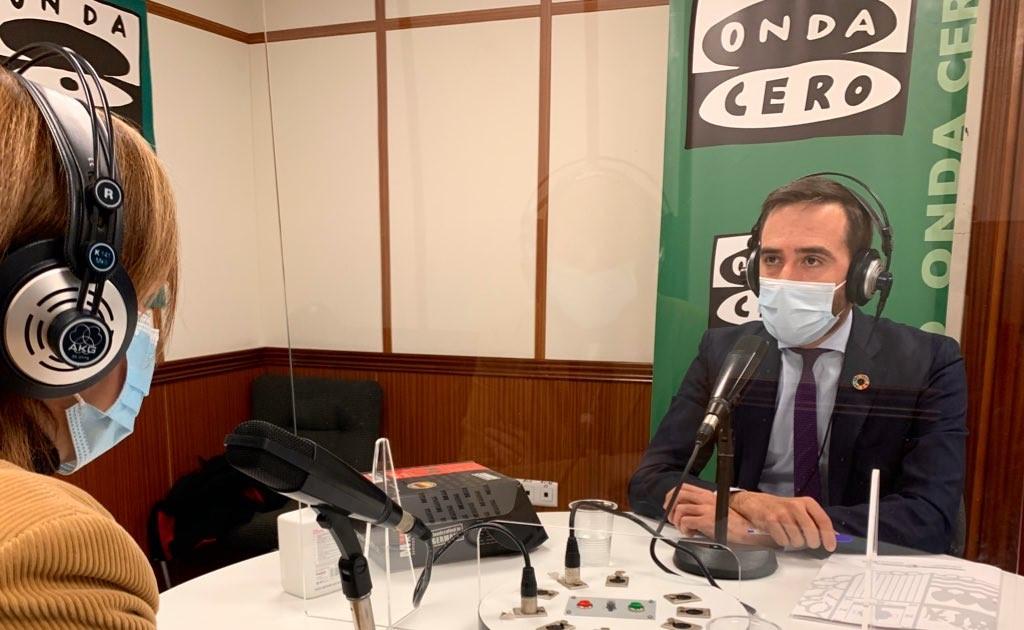 El Consejero Javier Hurtado destaca el fundamental papel de la hostelería y el comercio en una entrevista concedida a Onda Cero [21:25]