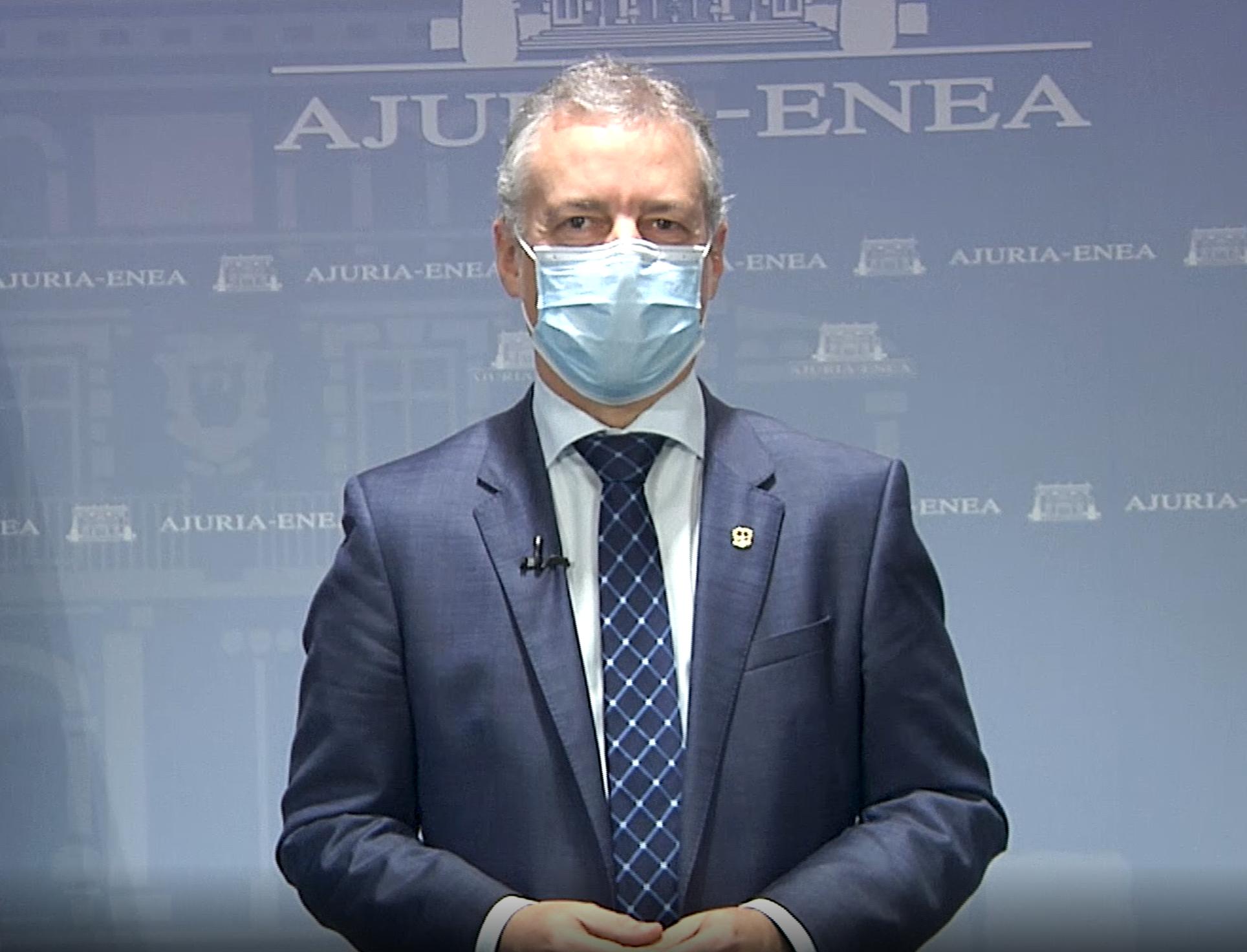 """El Lehendakari pone a """"la persona"""" en el centro de las políticas públicas en estos momentos de pandemia [0:00]"""