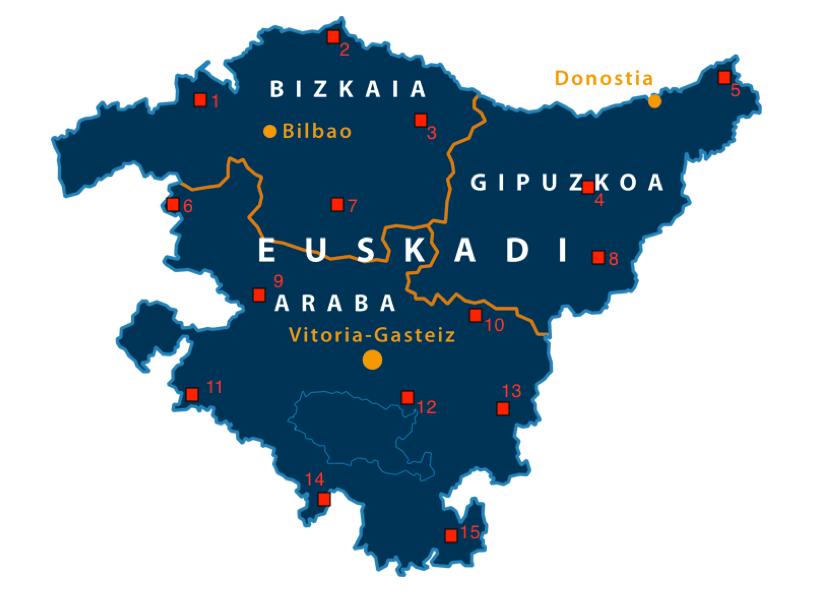 Mapa de estaciones