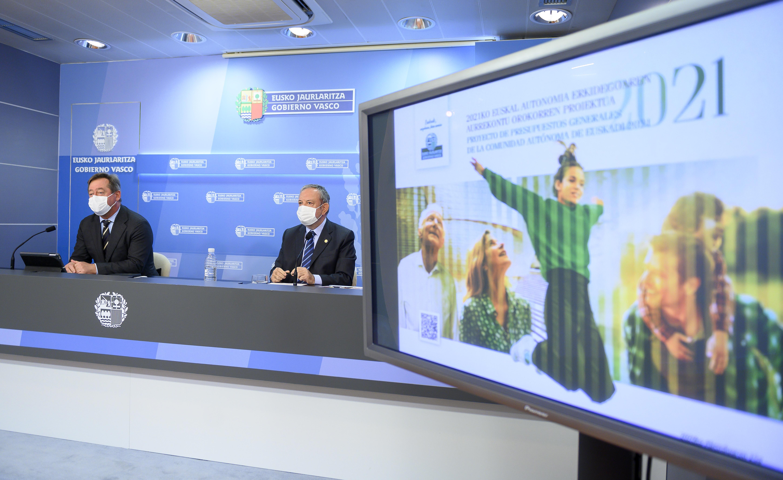 El Gobierno Vasco aprueba el proyecto de presupuestos para 2021 cuando se cumplen 100 días de la creación del Gobierno [58:28]