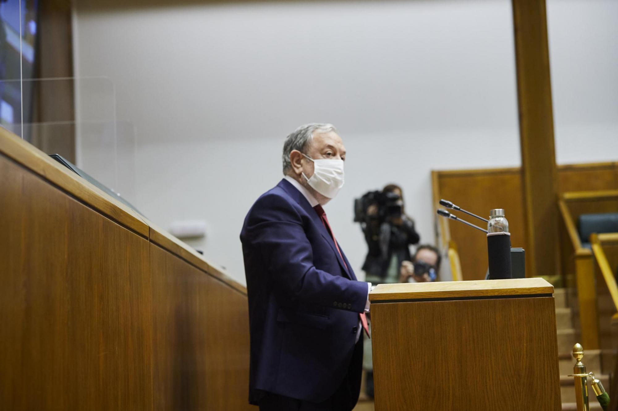 Intervención del Consejero Pedro Azpiazu en el pleno del Parlamento Vasco sobre los fondos europeos [14:52]