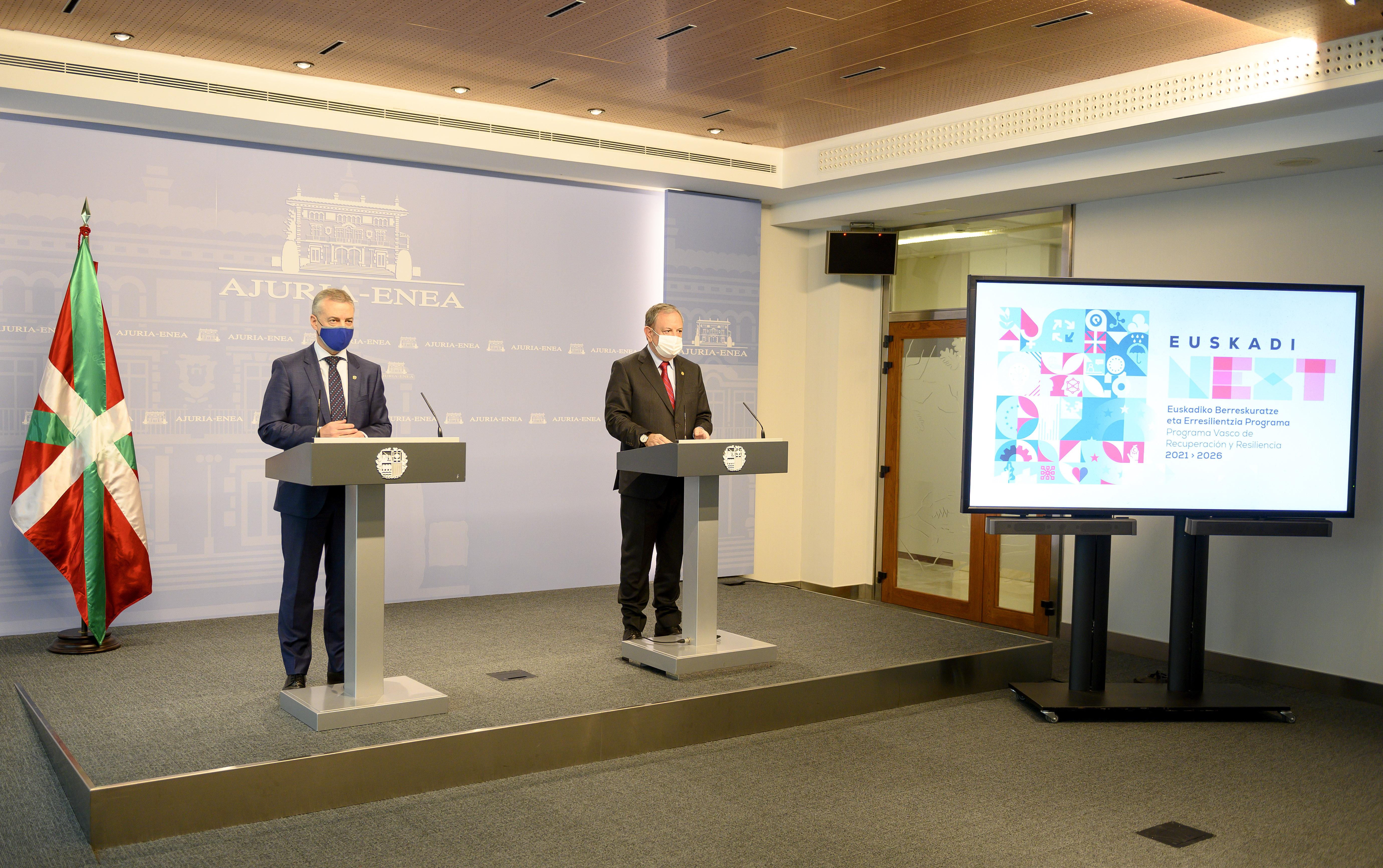 Euskadi pretende atraer 13.000 M/€ a través de los Fondos Next Generation EU [61:47]