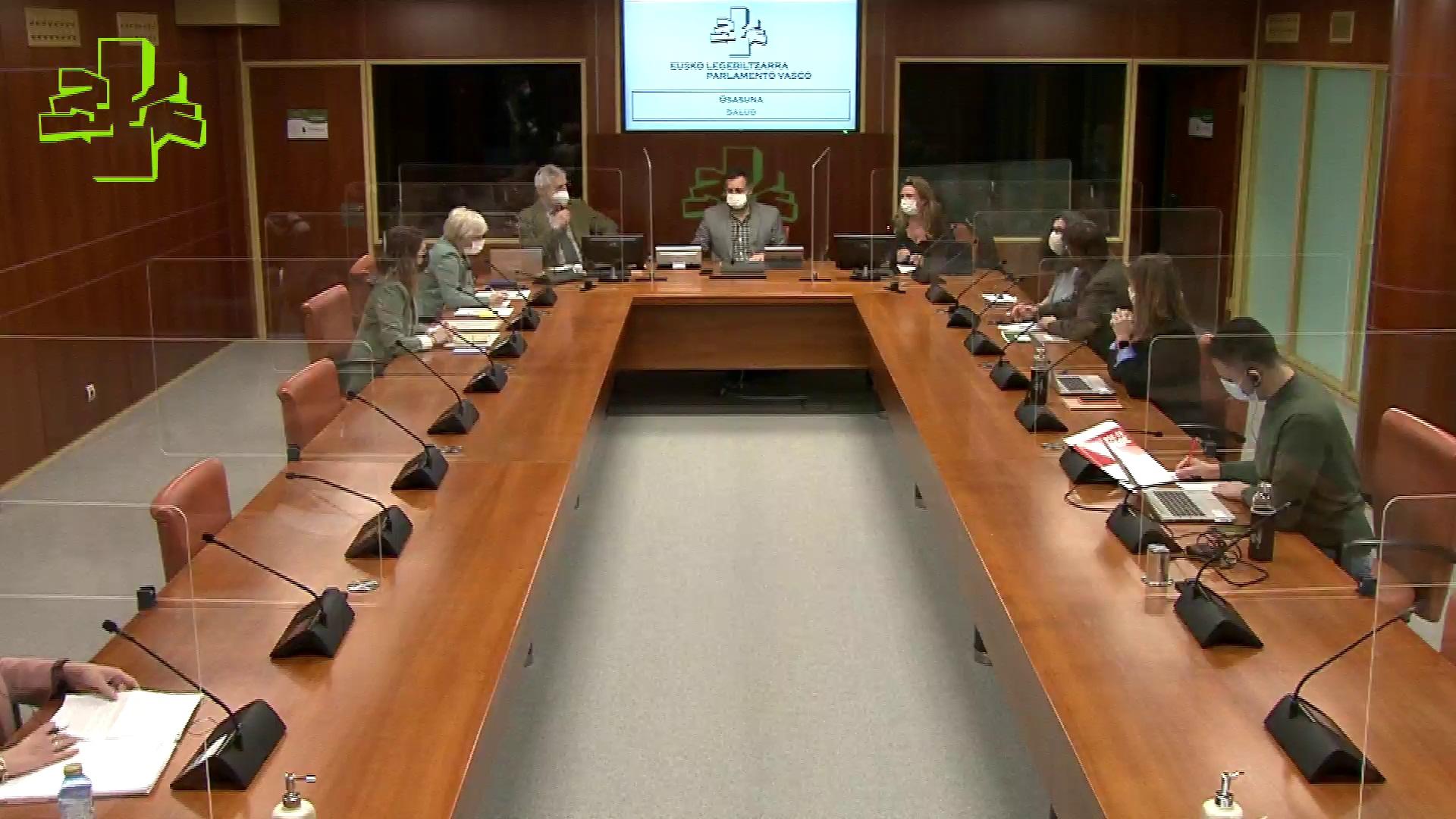Comisión de Salud: la Consejera informa sobre la evolución de la pandemia (13/01/2021)  [71:01]