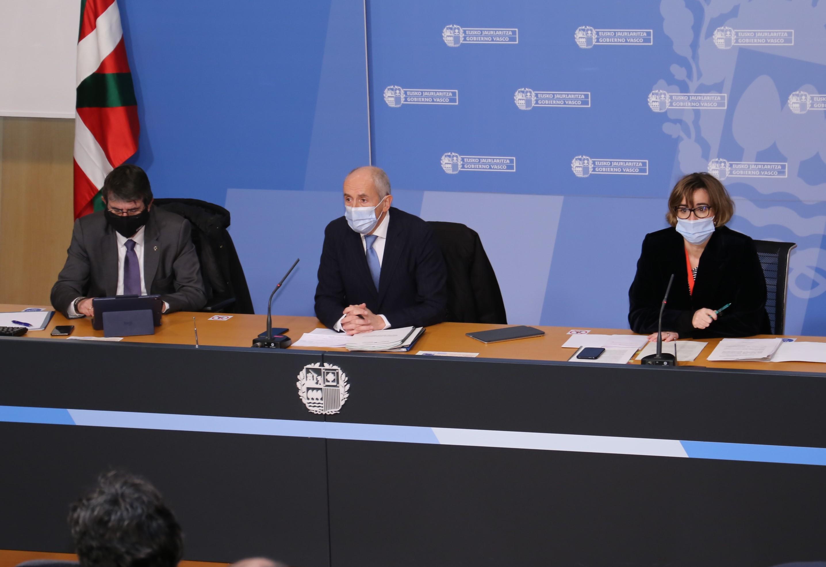 """El Gobierno presenta al Consejo de la Ertzaintza el proyecto de """"Centro de Detención Unificada"""" que se habilitará este año en la Ertzain-etxea de Lakua [2:28]"""
