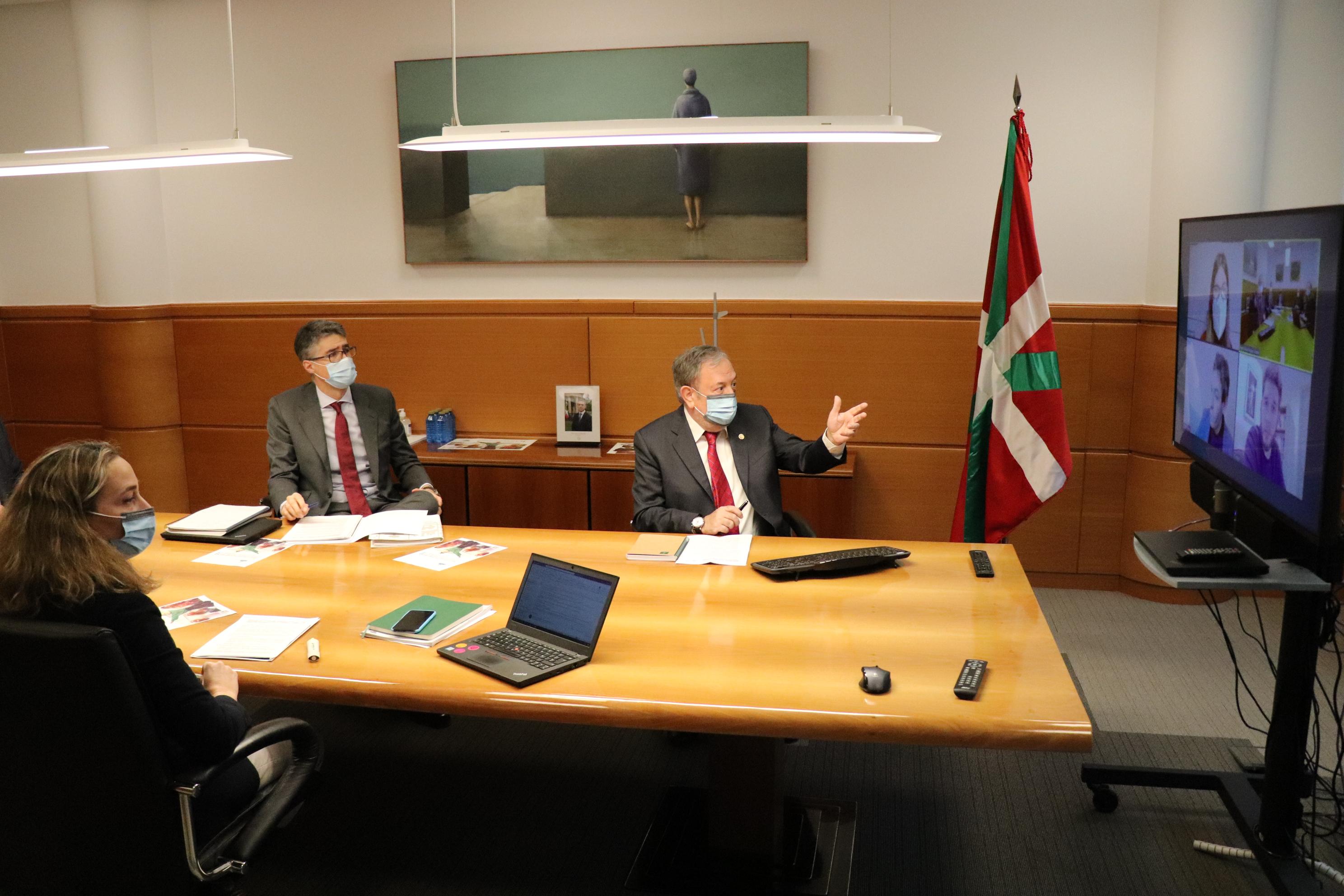 Segunda reunión de negociación (por videoconferencia) con el grupo parlamentario de ELKARREKIN PODEMOS+IU sobre el presupuesto de la CAV DE 2021 [1:31]