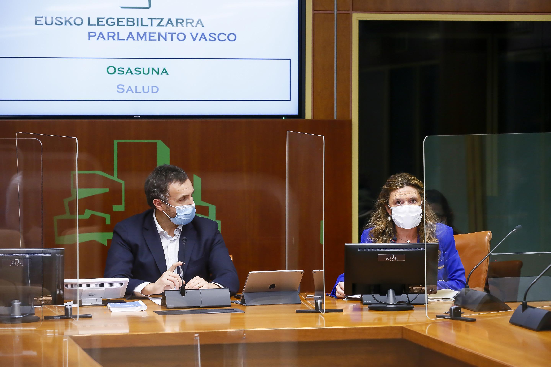 La Consejera de Salud da cuenta en el Parlamento sobre el proceso de vacunación entre profesionales de Osakidetza [171:59]