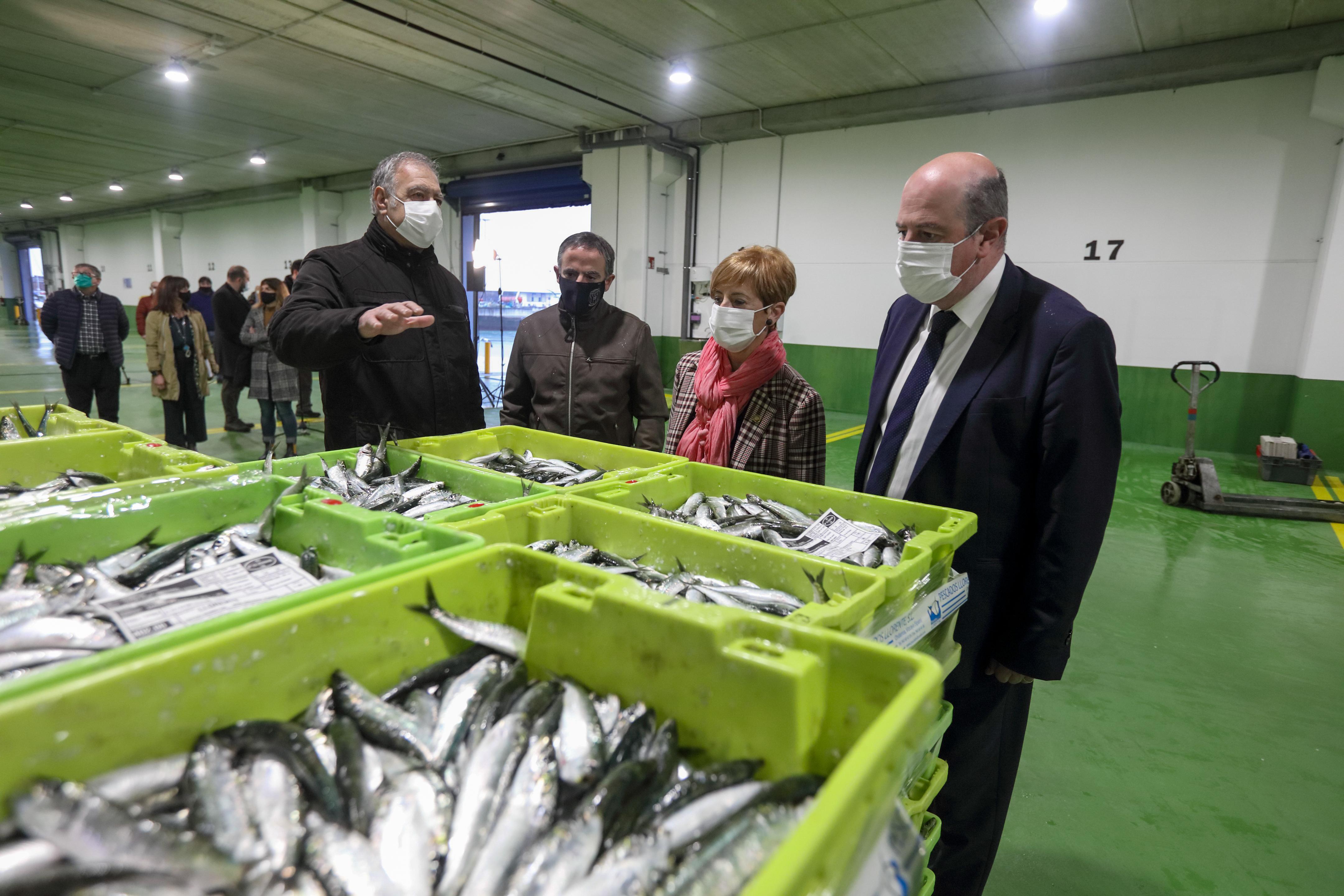 La nueva Lonja del puerto de Ondarroa empieza ya a dar servicio a arrantzales y comercializadoras  [7:51]