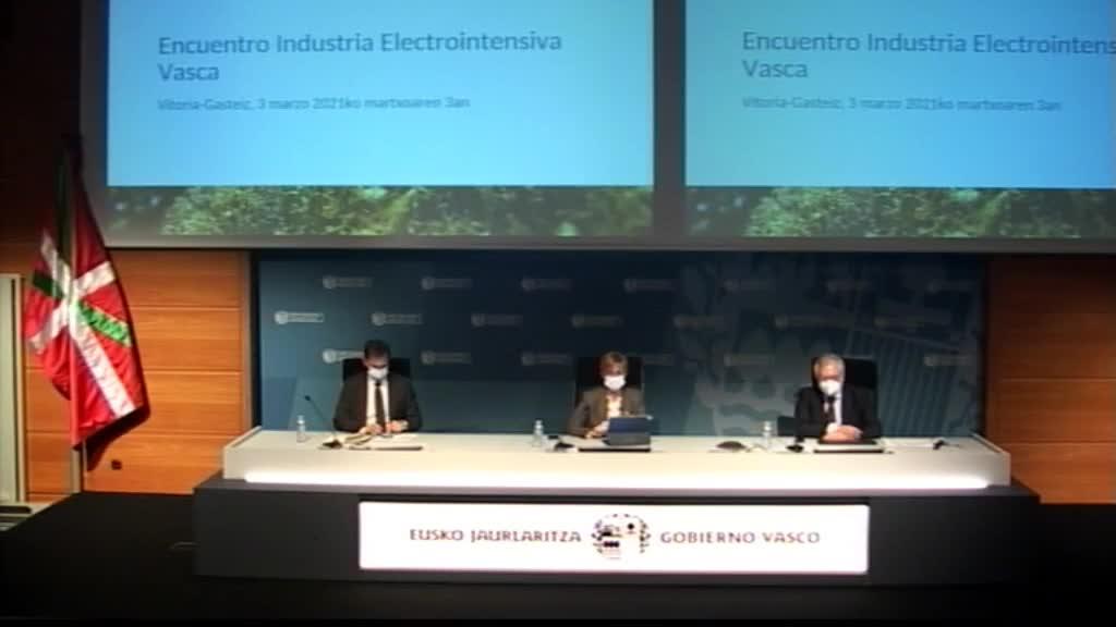 Euskadi solicitará la revisión de la normativa estatal para evitar que siga dañando la competitividad de la industria electrointensiva [9:29]
