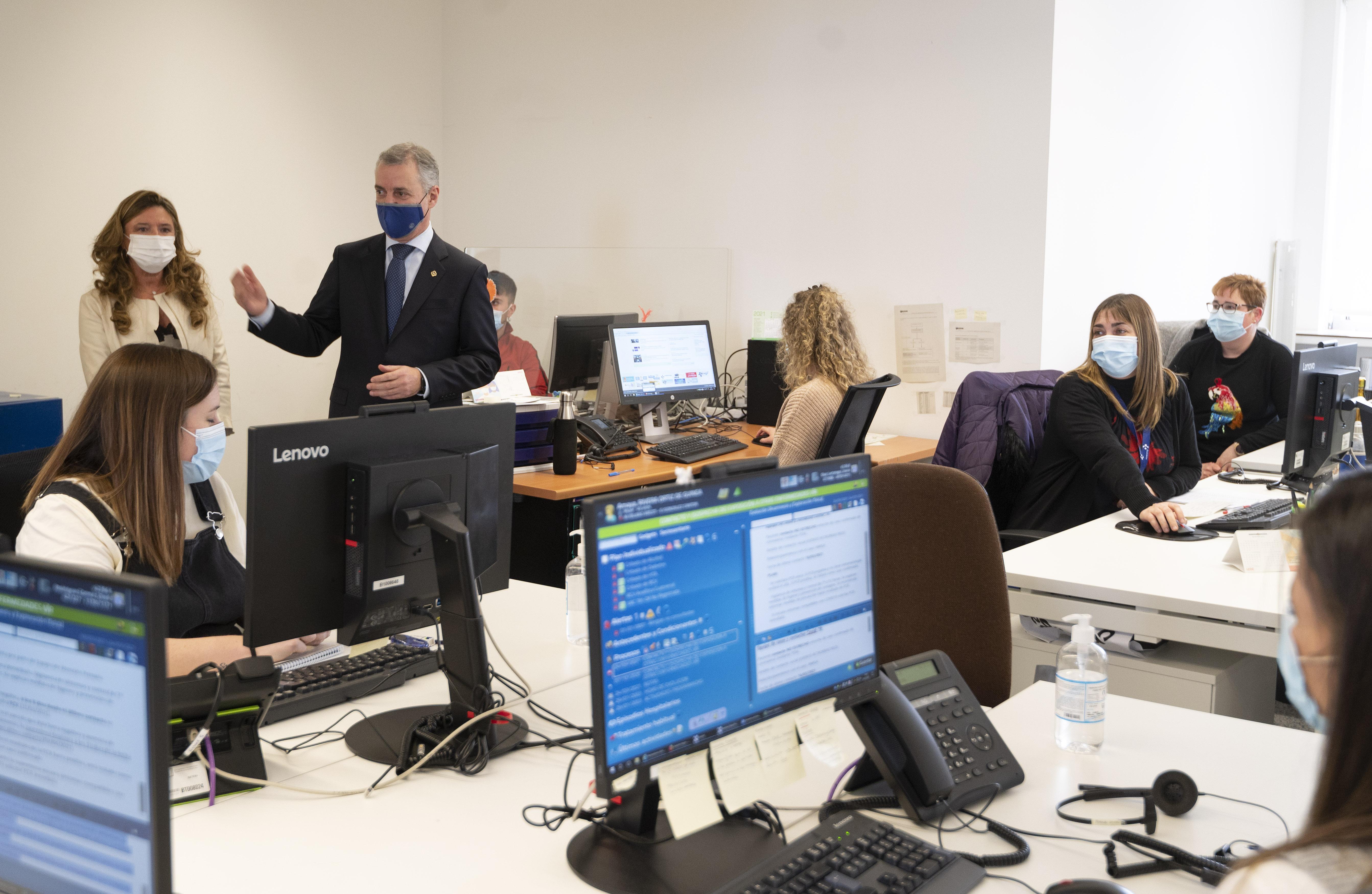 El Lehendakari agradece la labor de la red de rastreo y pide a la población su colaboración para ayudar a frenar al virus [11:19]